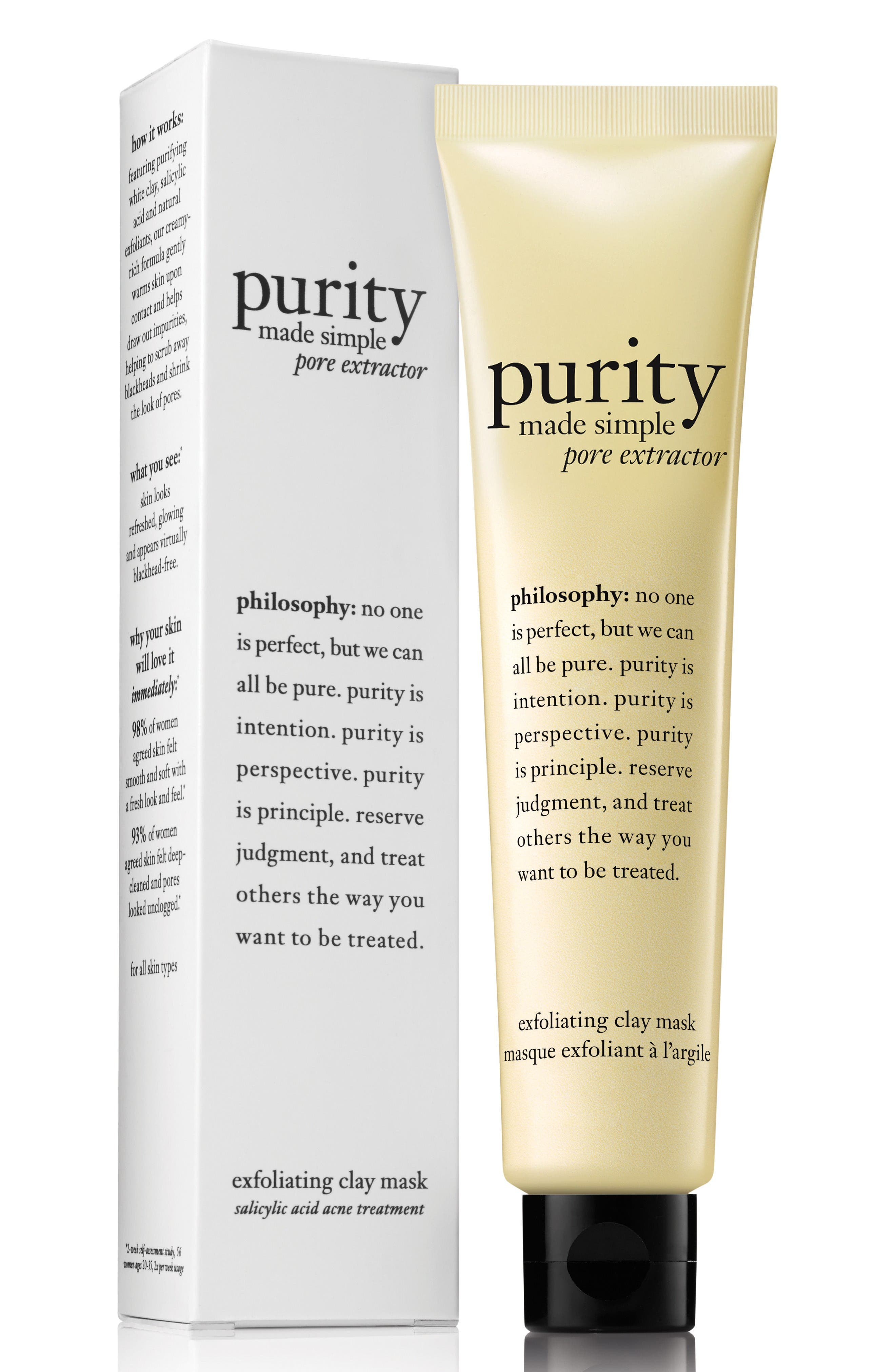 purity made simple pore extractor mask,                         Main,                         color, No Color