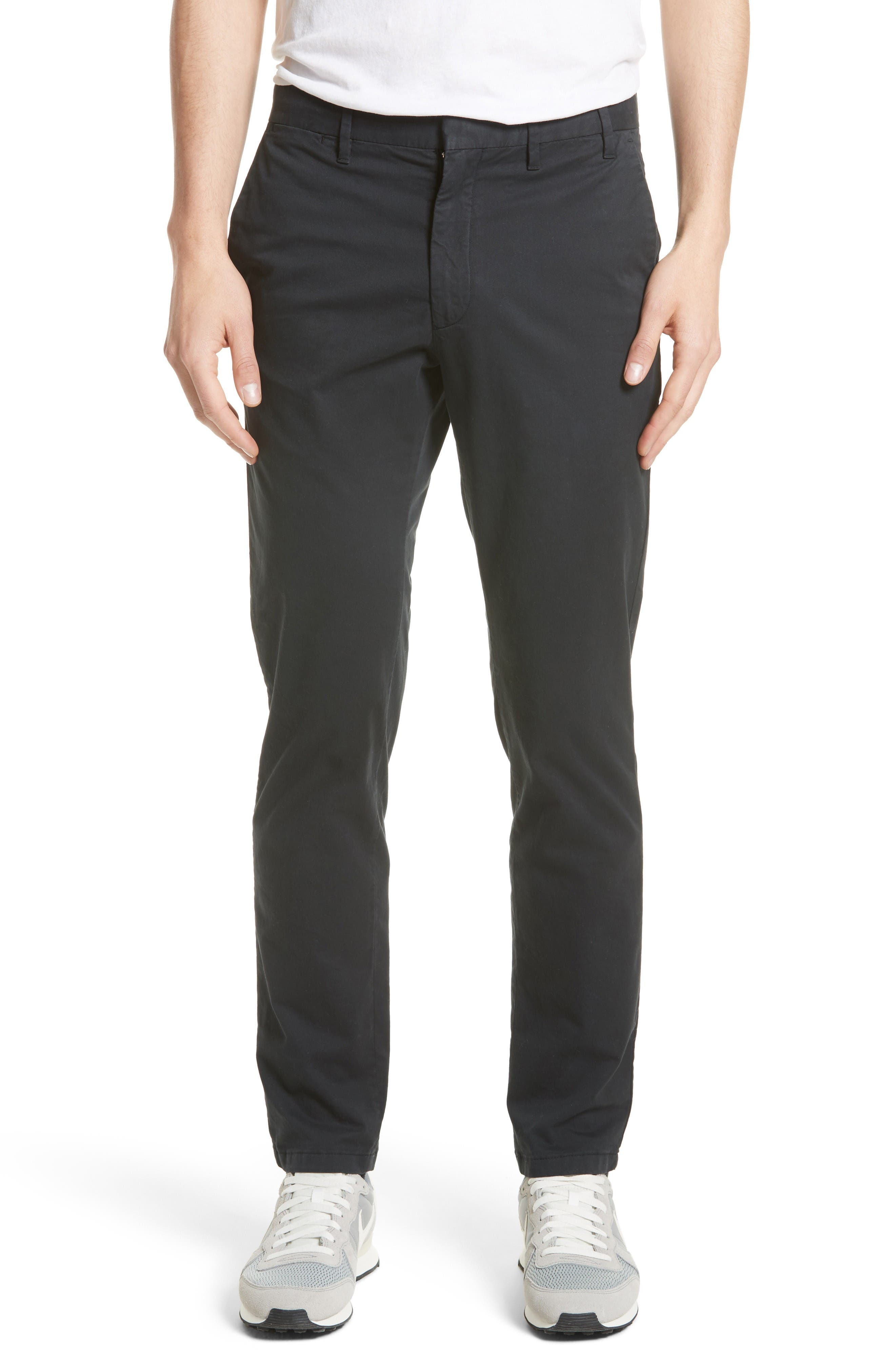 Aros Slim Stretch Cotton Chinos,                         Main,                         color, Black