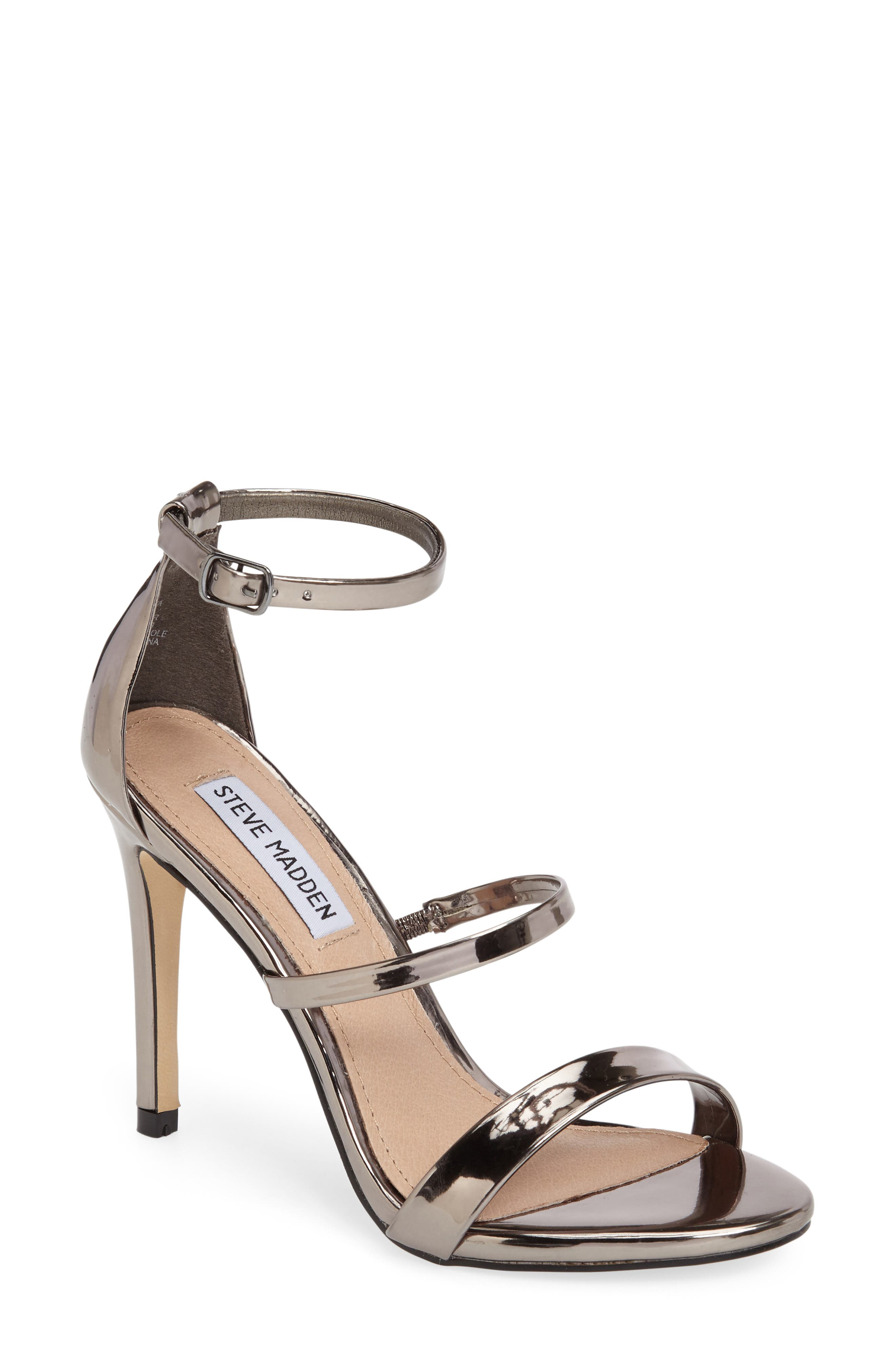 Sheena Strappy Sandal,                             Main thumbnail 1, color,                             Pewter Faux Leather