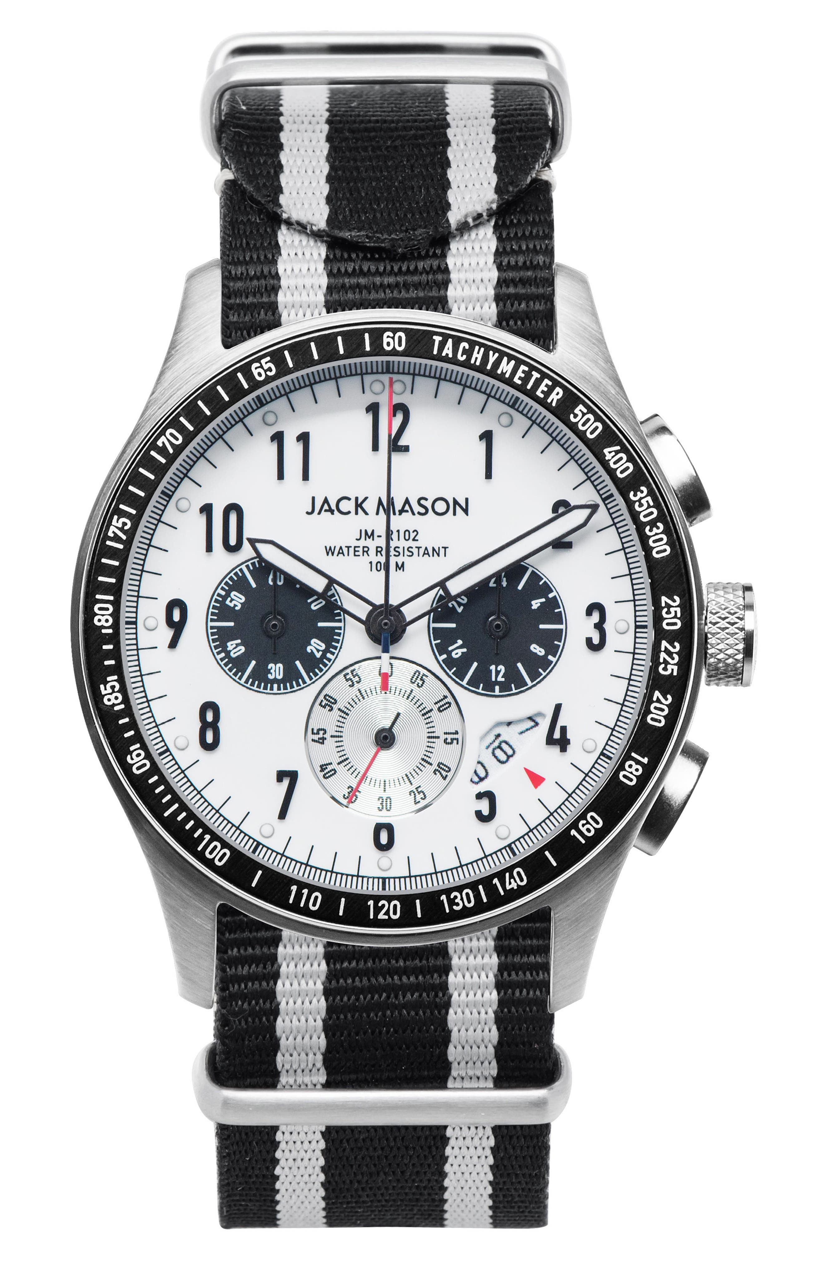 Jack Mason Racing Chronograph NATO Strap Watch, 46mm