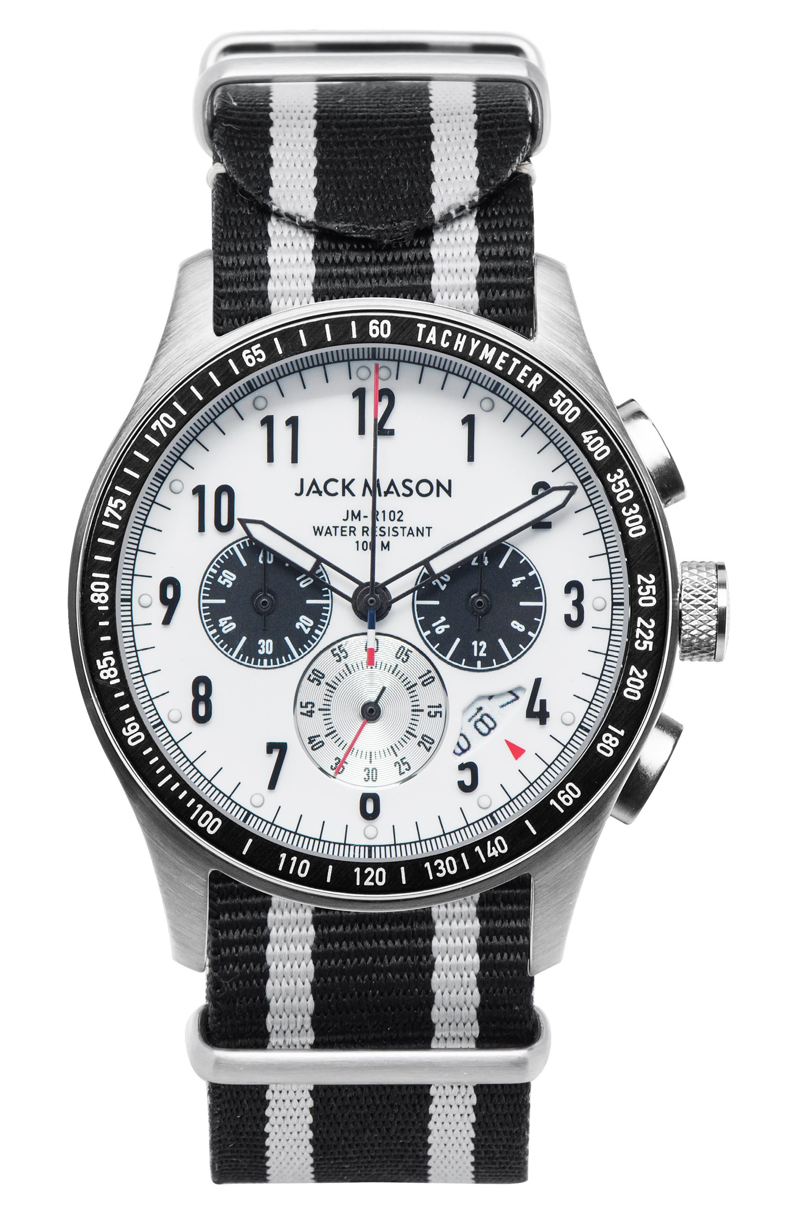 Jack Mason Racing Chronograph NATO Strap Watch, 46mm