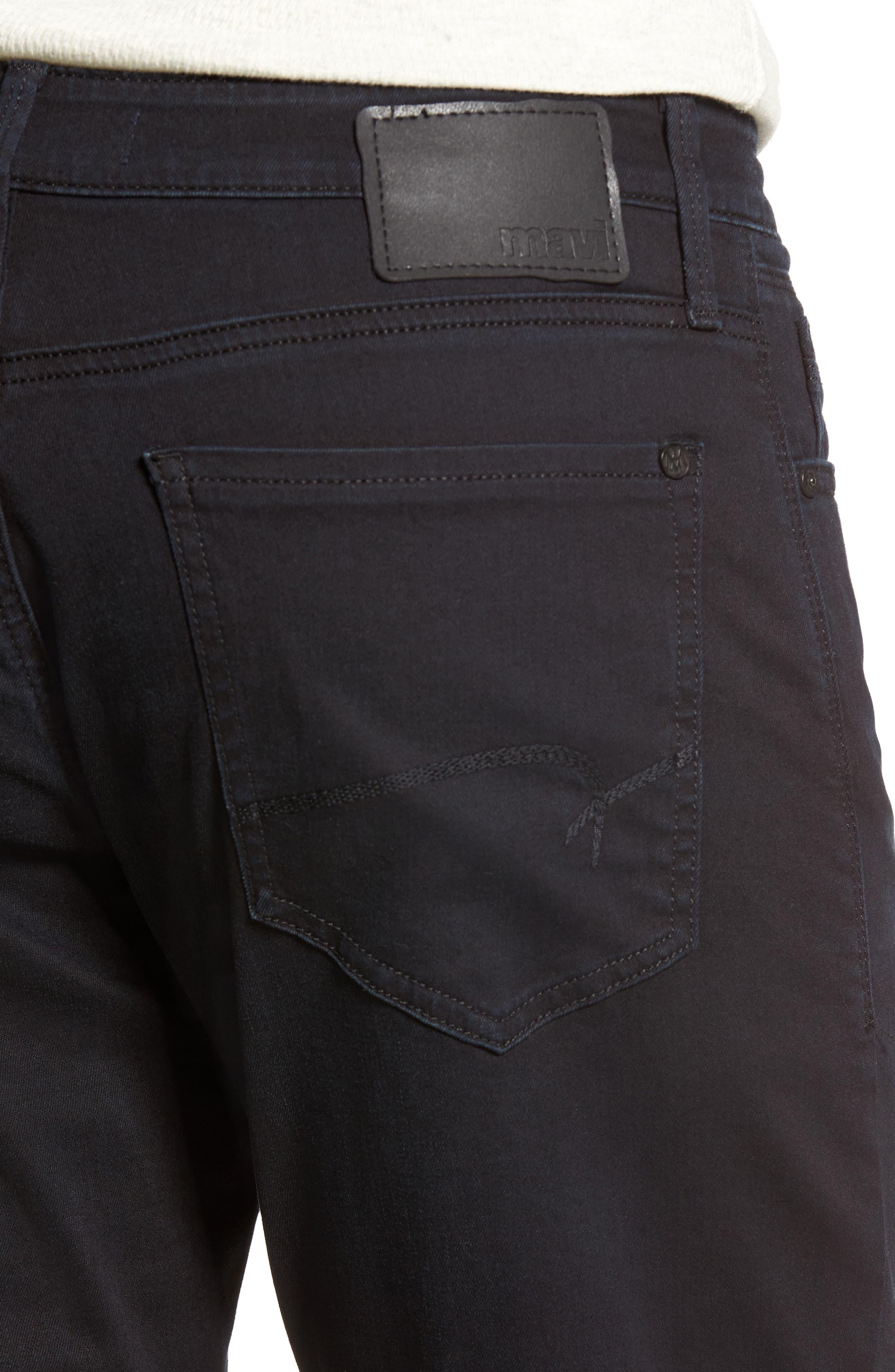 Matt Relaxed Fit Jeans,                             Alternate thumbnail 4, color,                             Blue Black