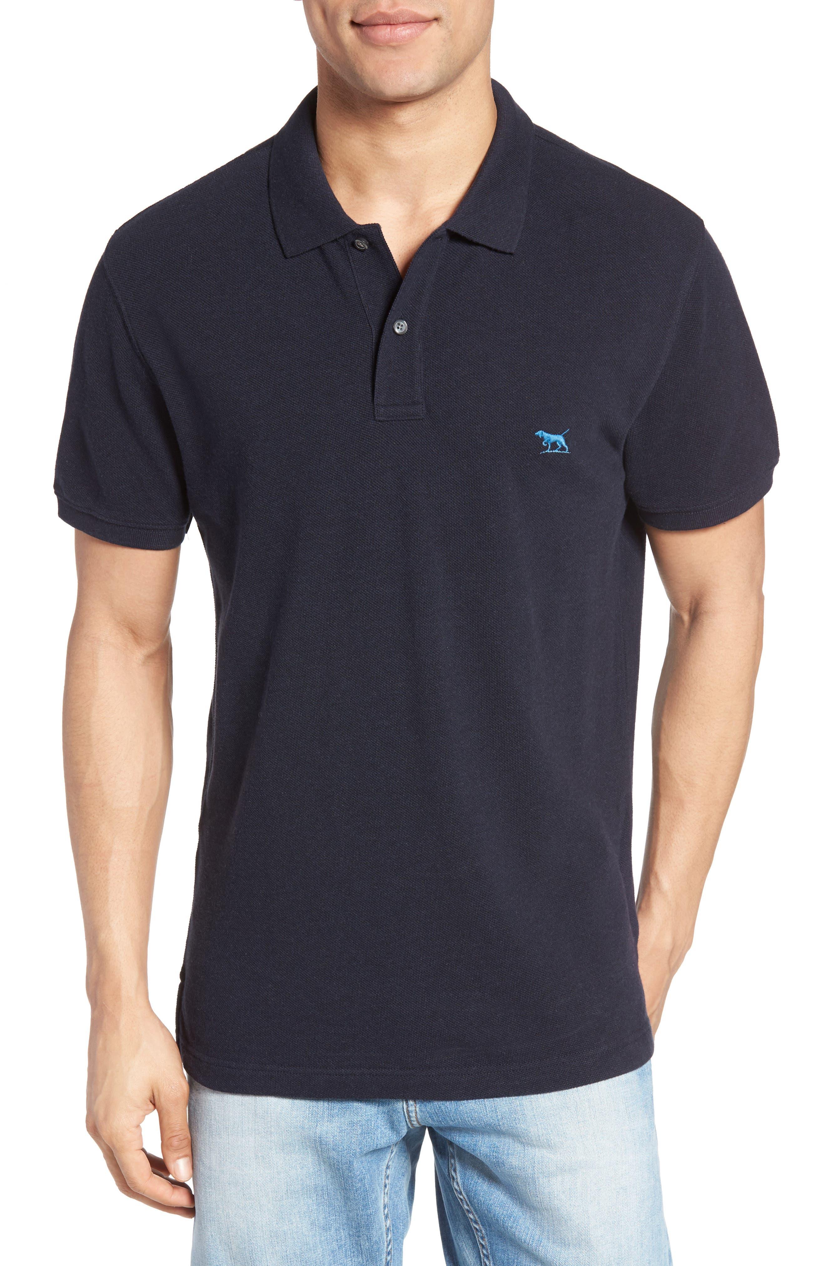 'The Gunn' Piqué Sports Fit Cotton Polo,                         Main,                         color, Navy