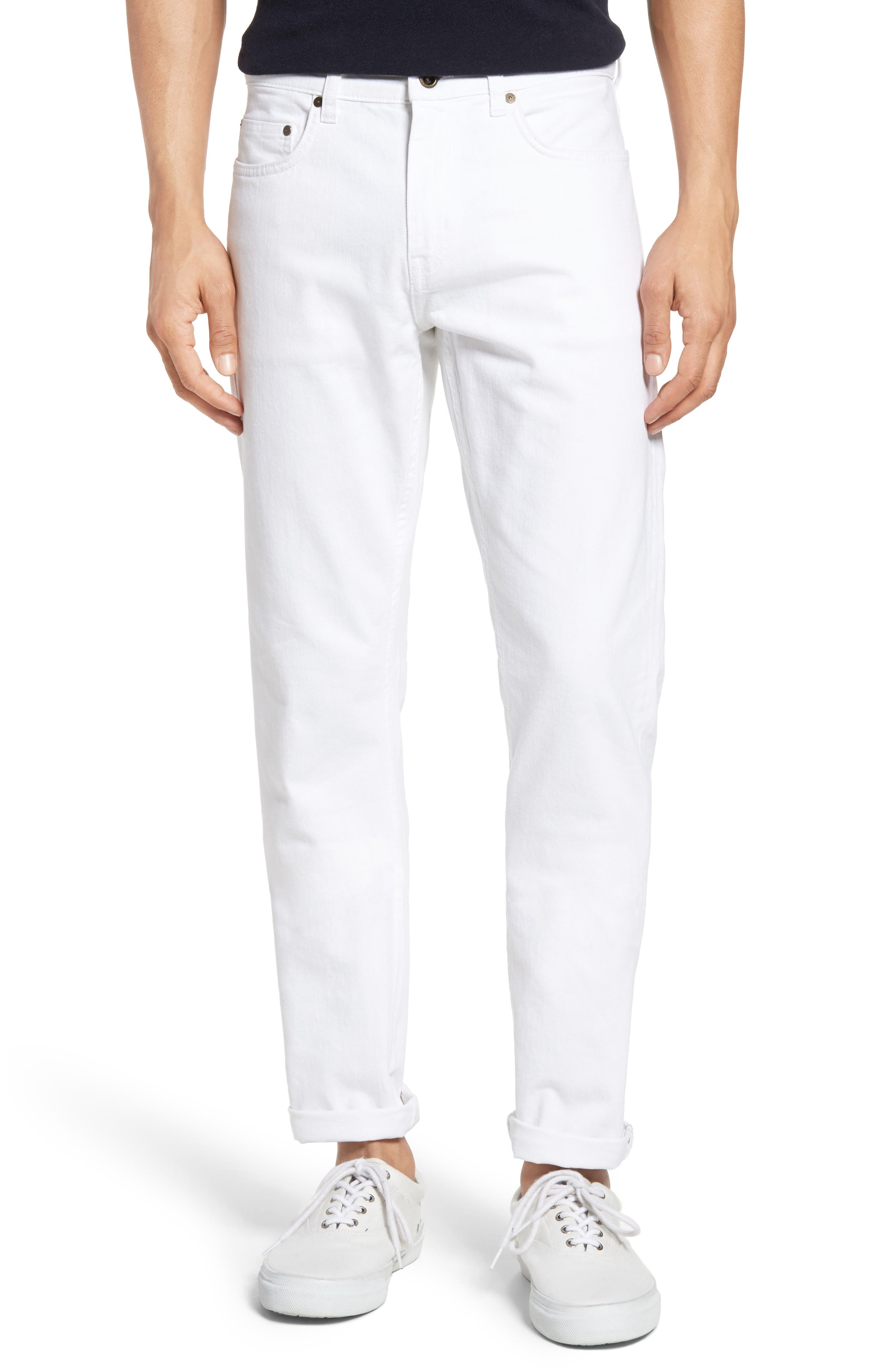 Allemand Straight Leg Jeans,                             Main thumbnail 1, color,                             Snow