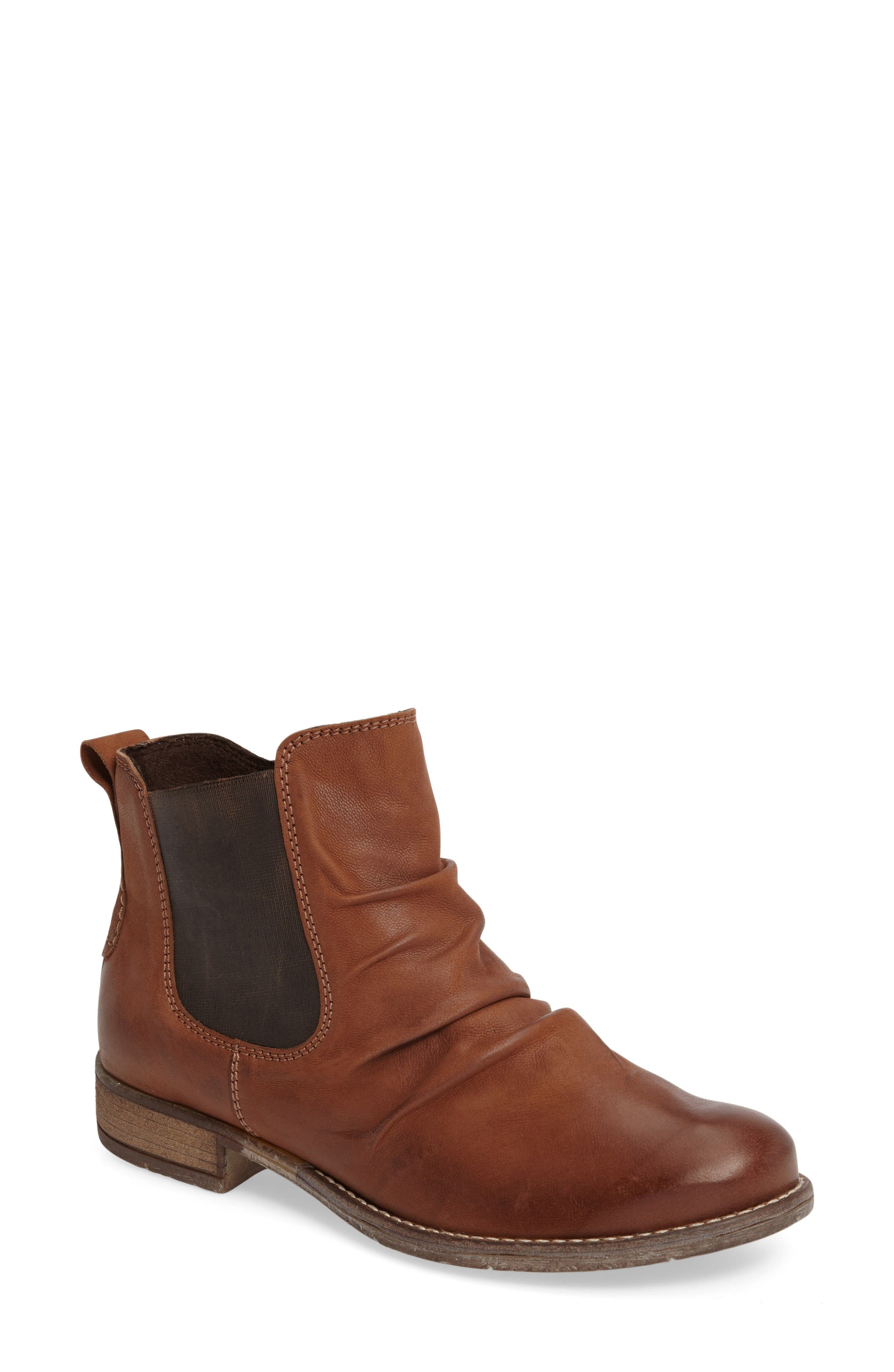 Sienna 59 Slouchy Chelsea Bootie,                             Main thumbnail 1, color,                             Castagne Leather