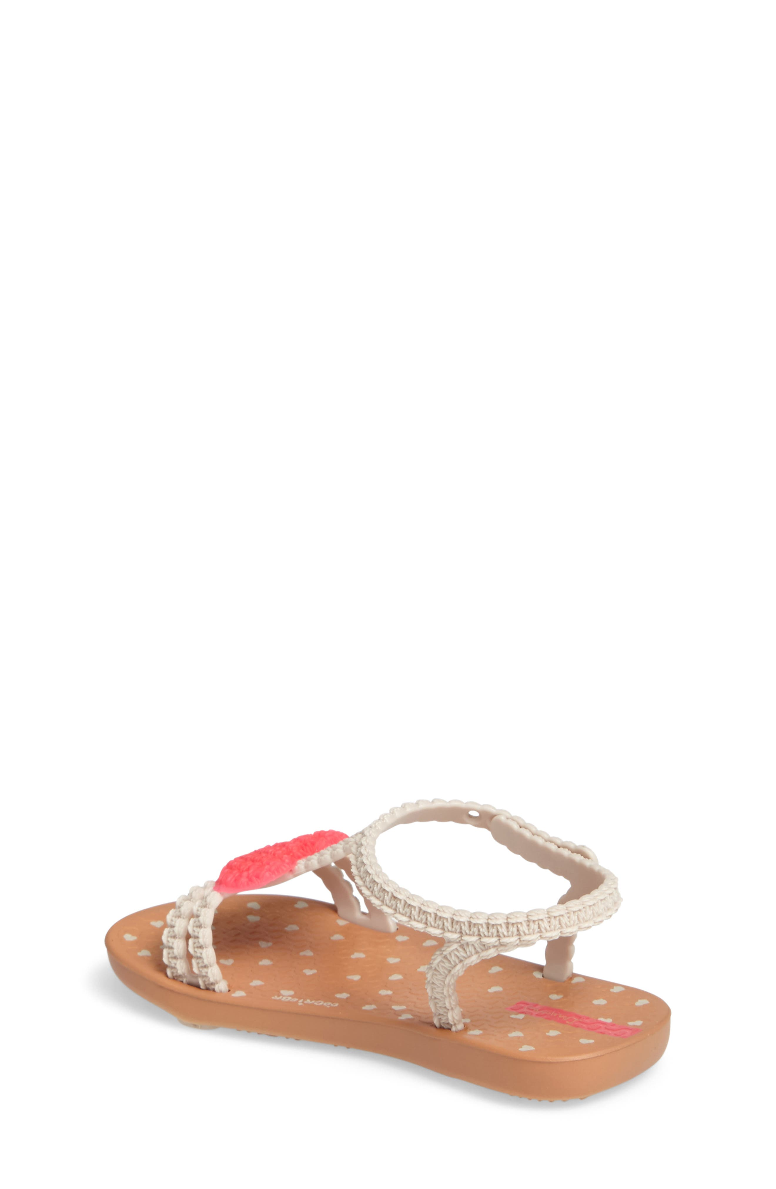 My First Ipanema Sandal,                             Alternate thumbnail 2, color,                             Brown/ Pink