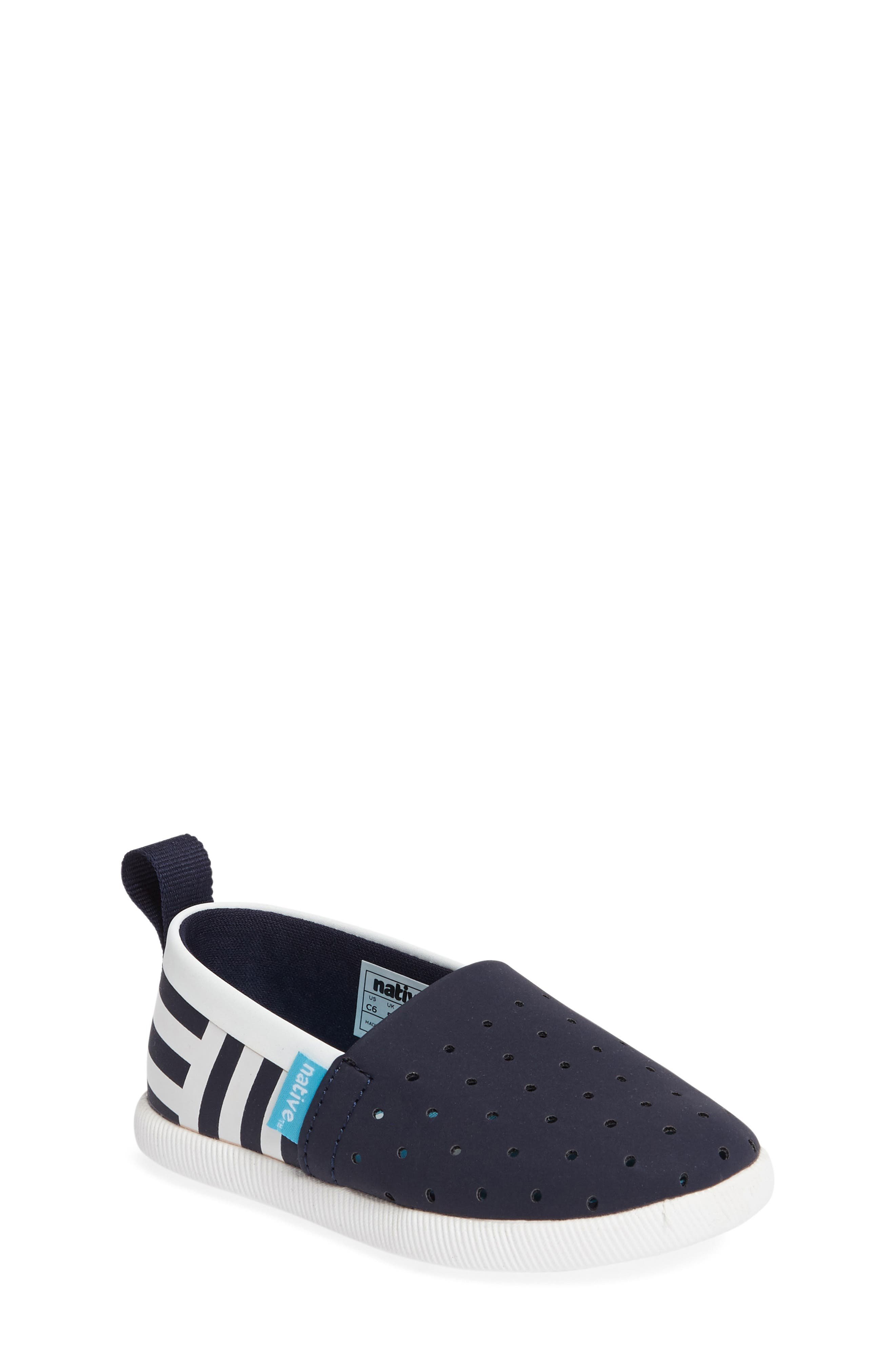 Venice Stripe Slip-On,                             Main thumbnail 1, color,                             Regatta Blue/ White/ Stripe
