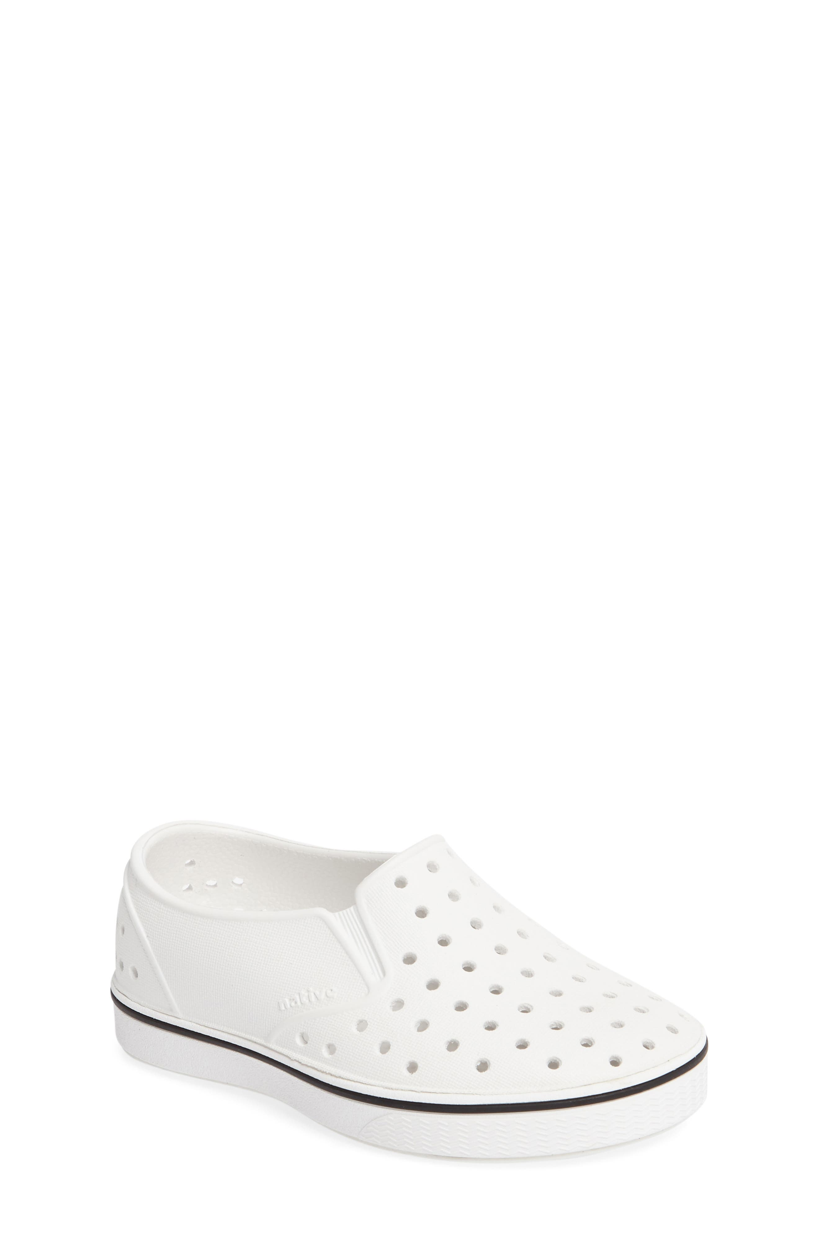 Native Shoes Miles Water Friendly Slip-On Sneaker (Baby, Walker, Toddler &.  Previous. SHELL WHITE/ ...