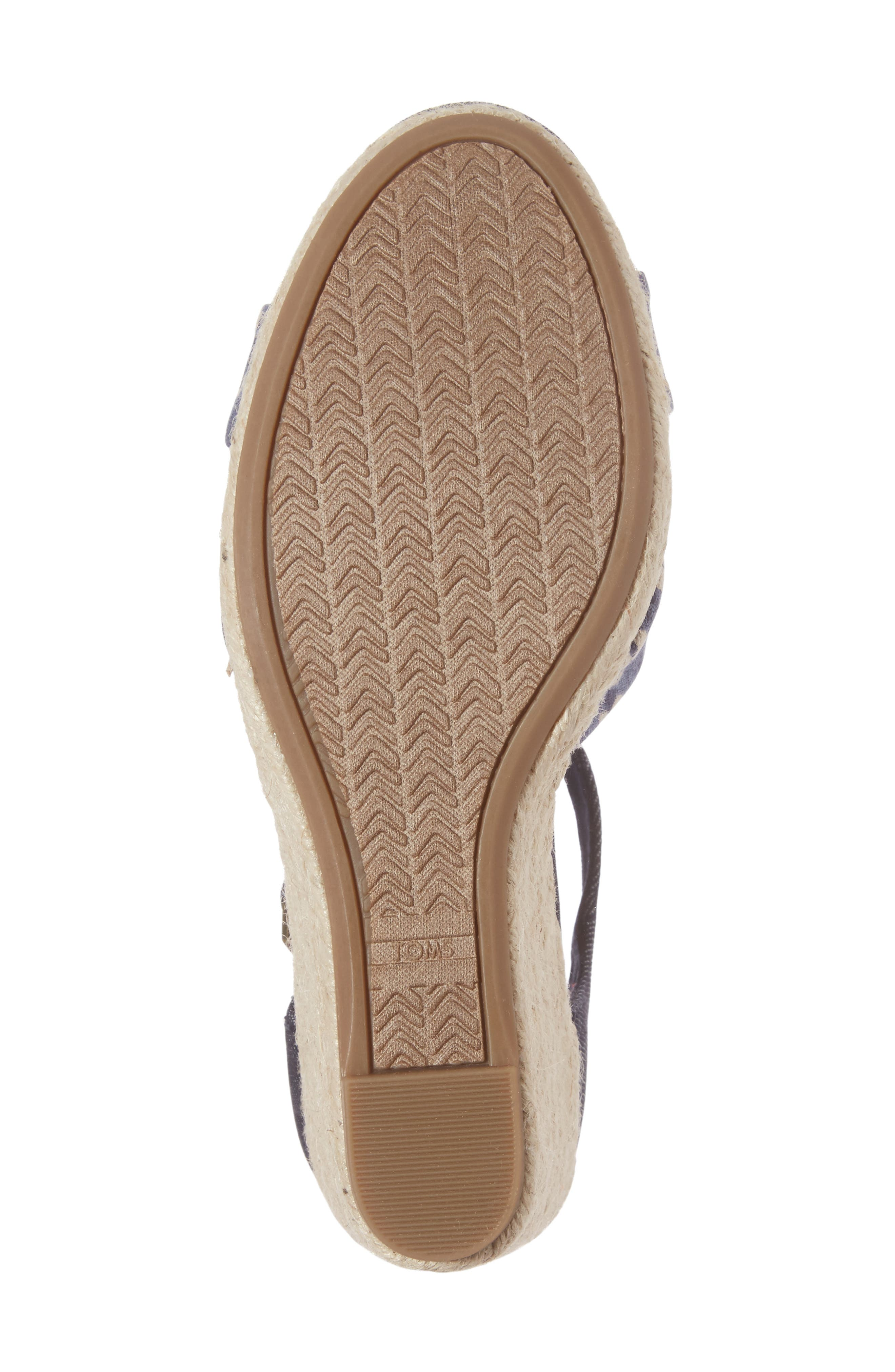 Alternate Image 6  - TOMS Sienna Wedge Sandal (Women)