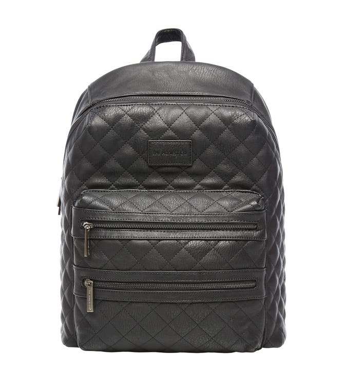 The Honest Company City Quilted Faux Leather Diaper Backpack ... : quilted faux leather backpack - Adamdwight.com