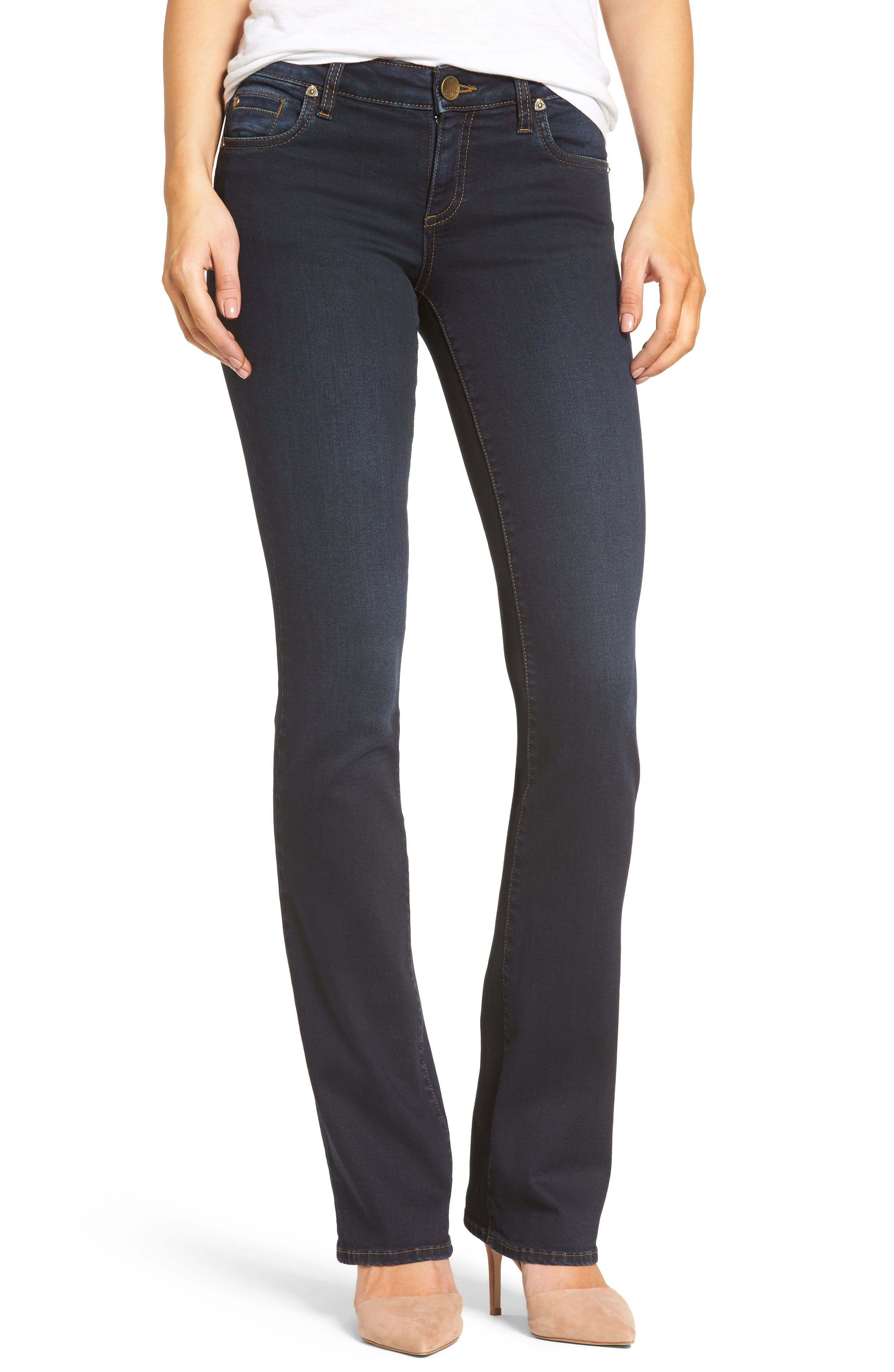 KUT from the Kloth Natalie Stretch Bootleg Jeans (Immeasurable) (Regular & Petite)