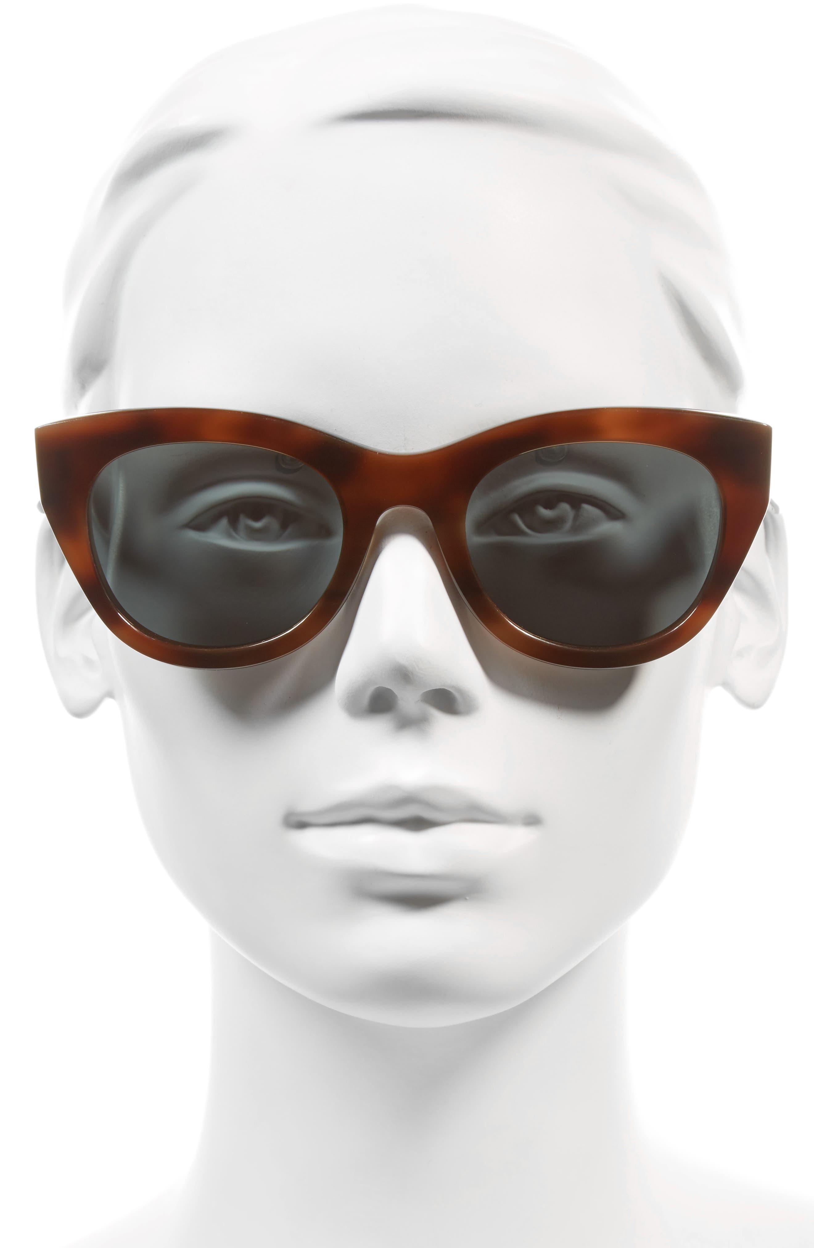 Pila 52mm Polarized Sunglasses,                             Alternate thumbnail 2, color,                             Cognac/ Rose Mirror