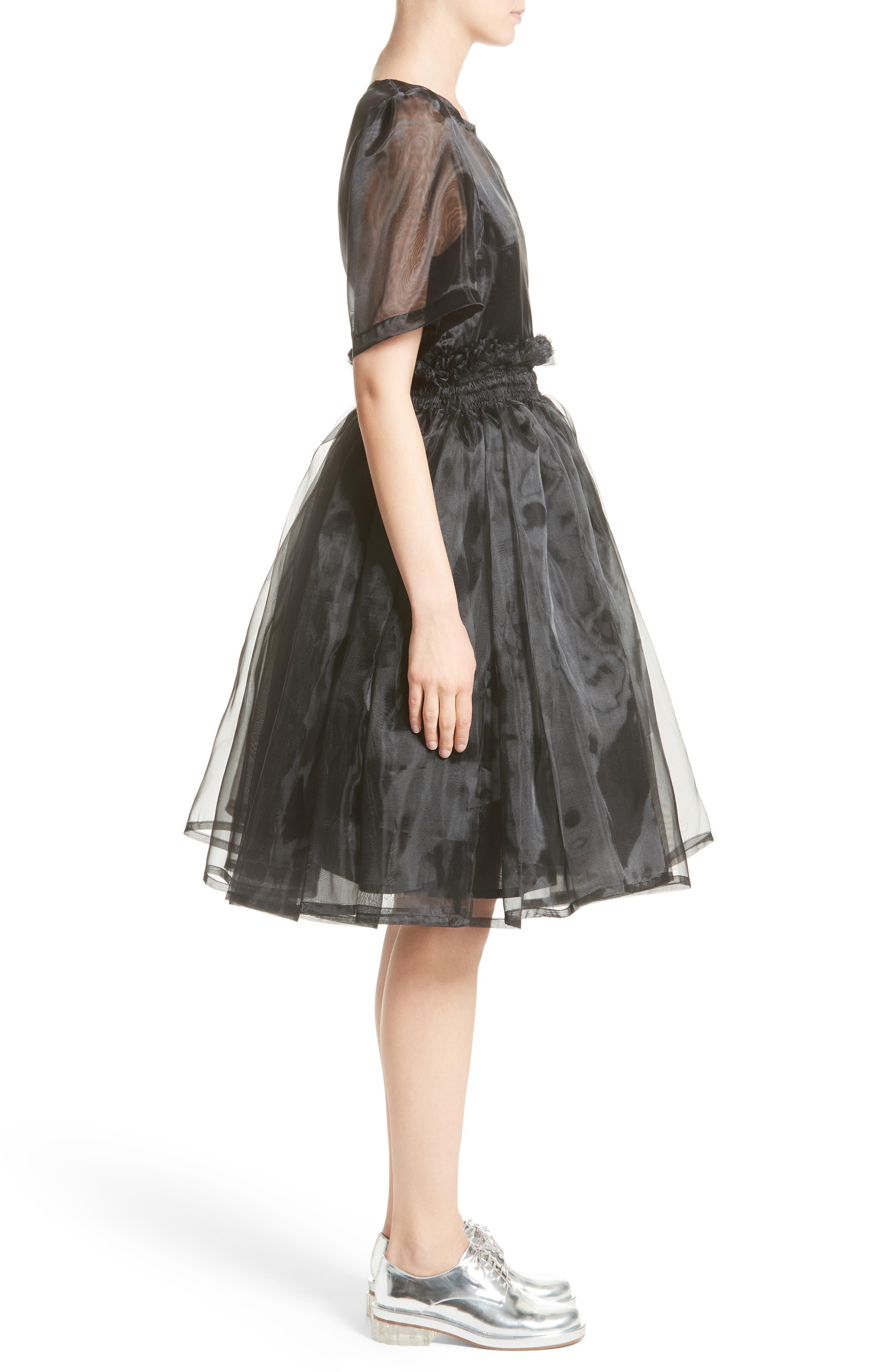 Addison Tulle Dress,                             Alternate thumbnail 7, color,                             Black
