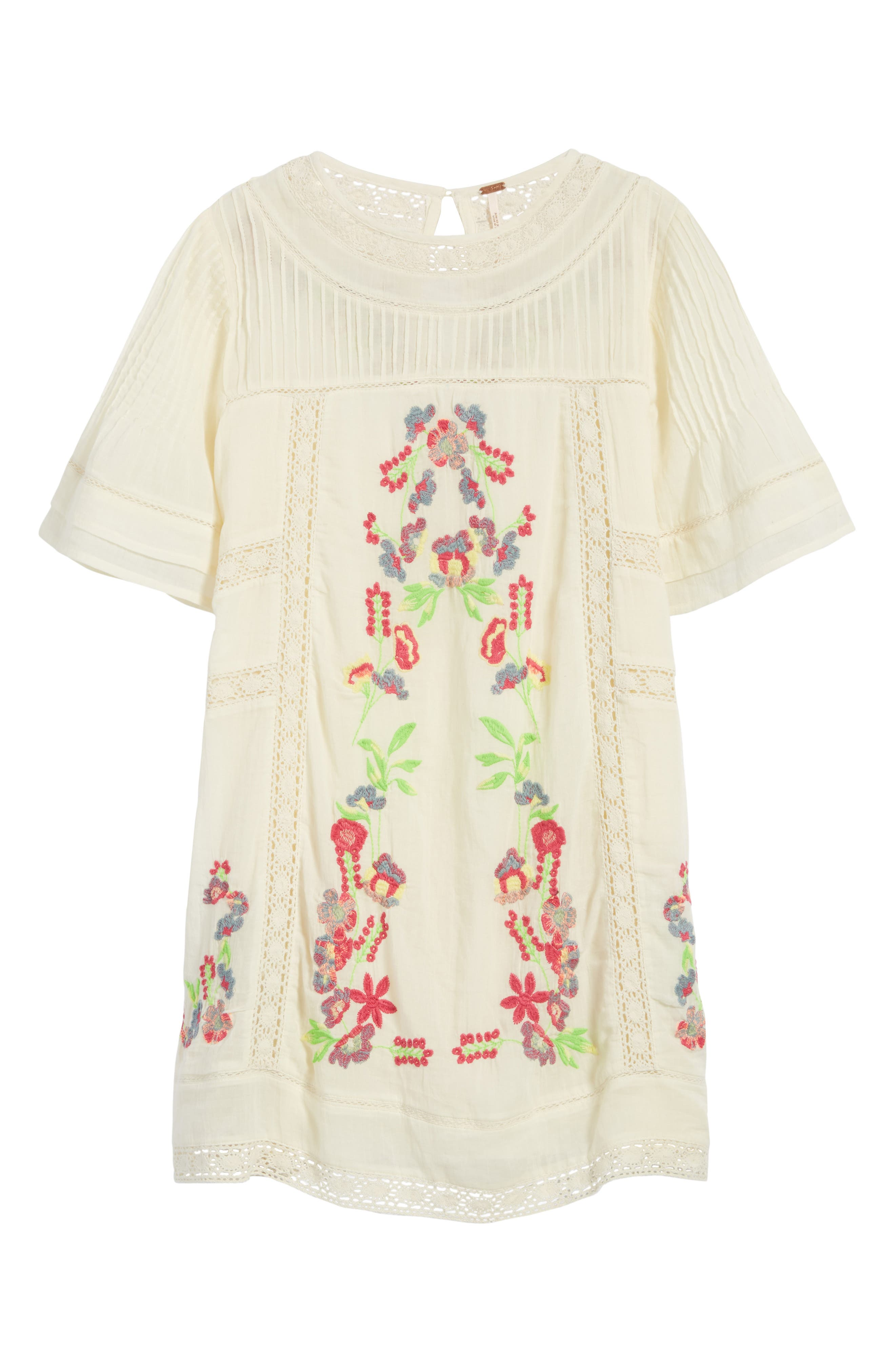 'Perfectly Victorian' Minidress,                             Alternate thumbnail 6, color,                             White