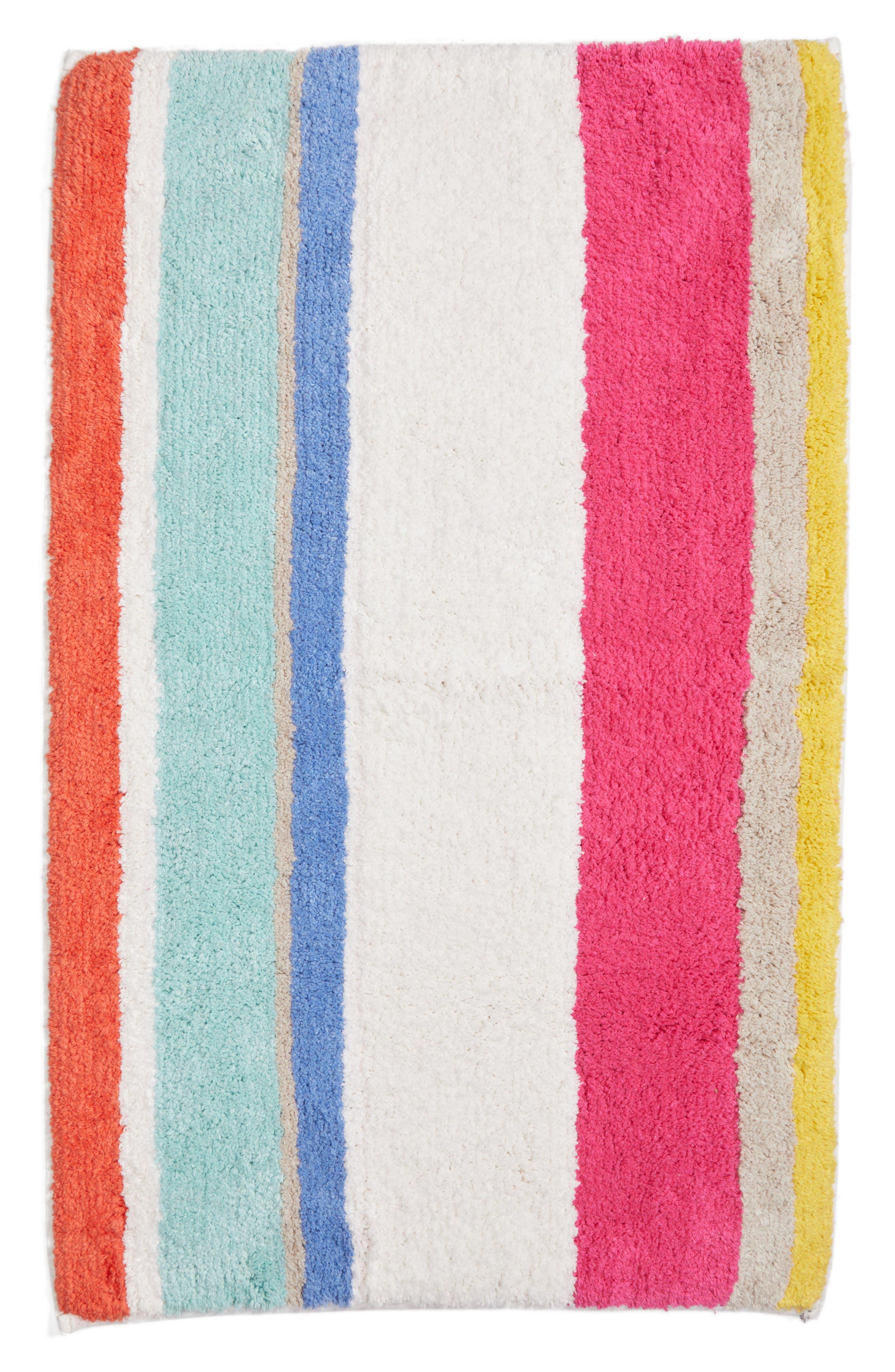 kate spade new york paintball stripe bath rug