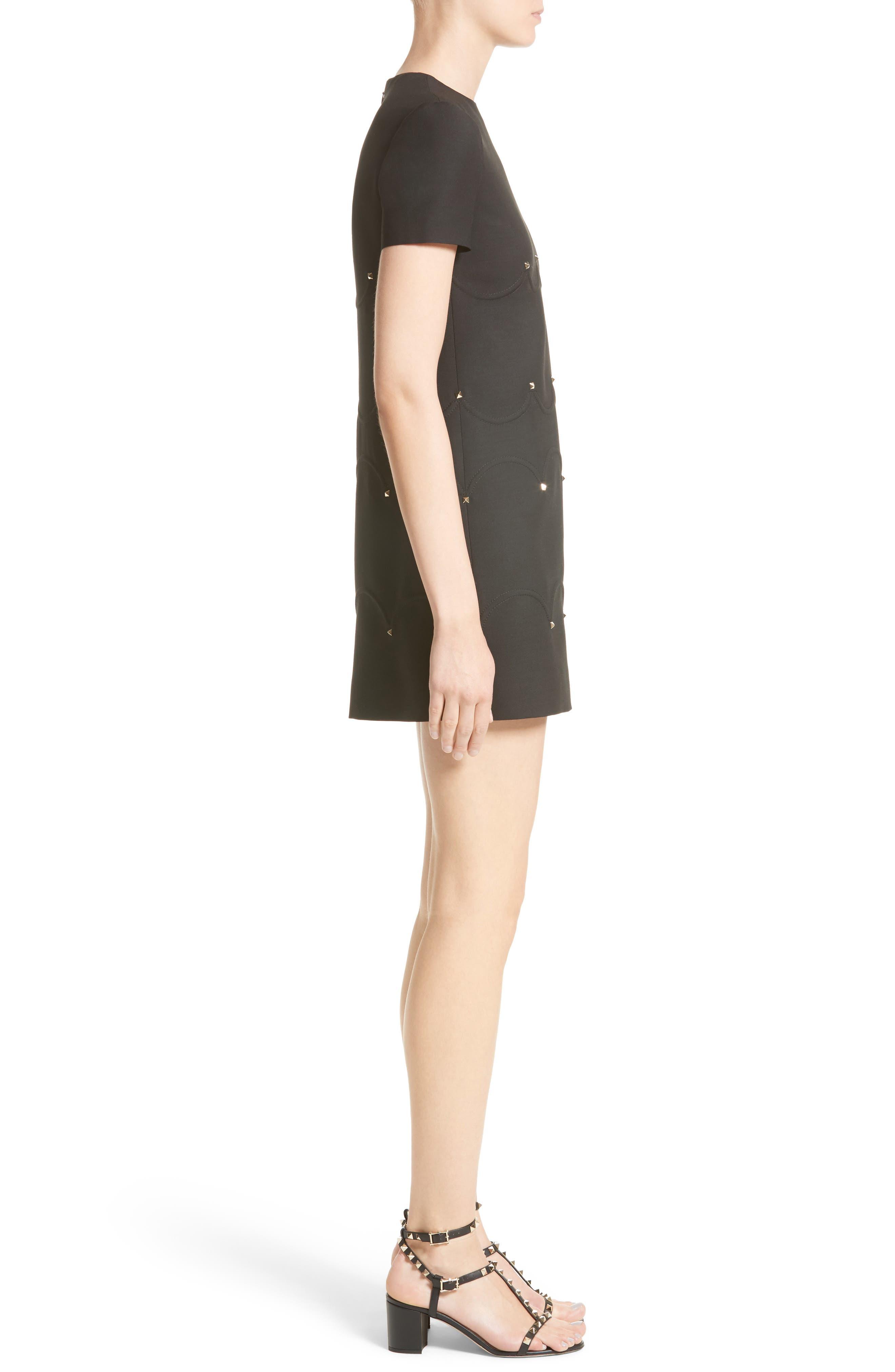 Alternate Image 6  - Valentino Studded Scallop Dress