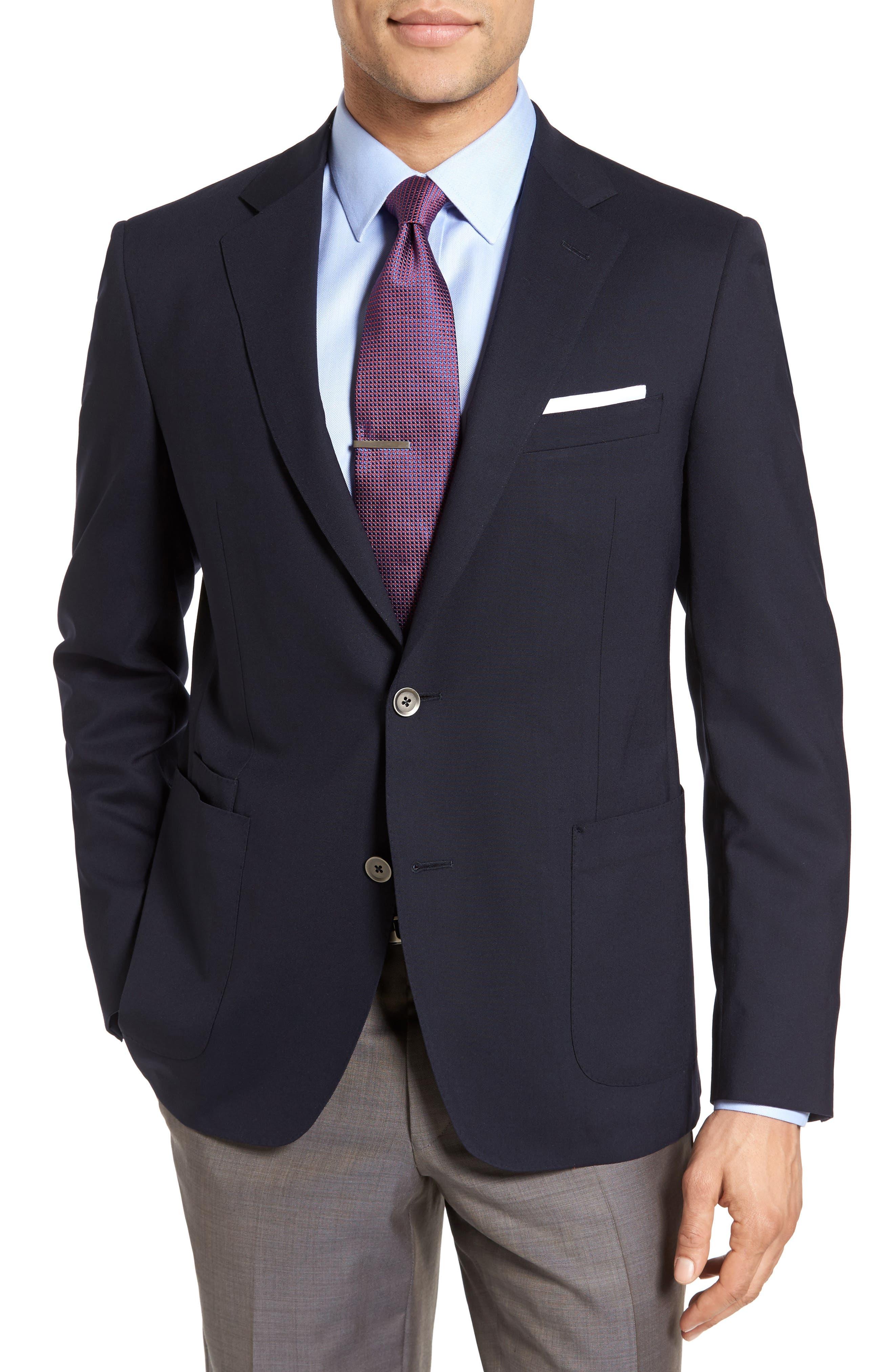 Alternate Image 1 Selected - Samuelsohn Classic Fit Stretch Wool Travel Blazer