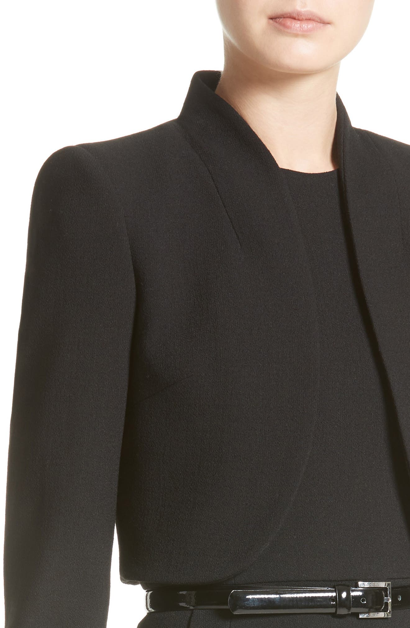 Alternate Image 6  - Michael Kors Stretch Bouclé Crepe Bolero