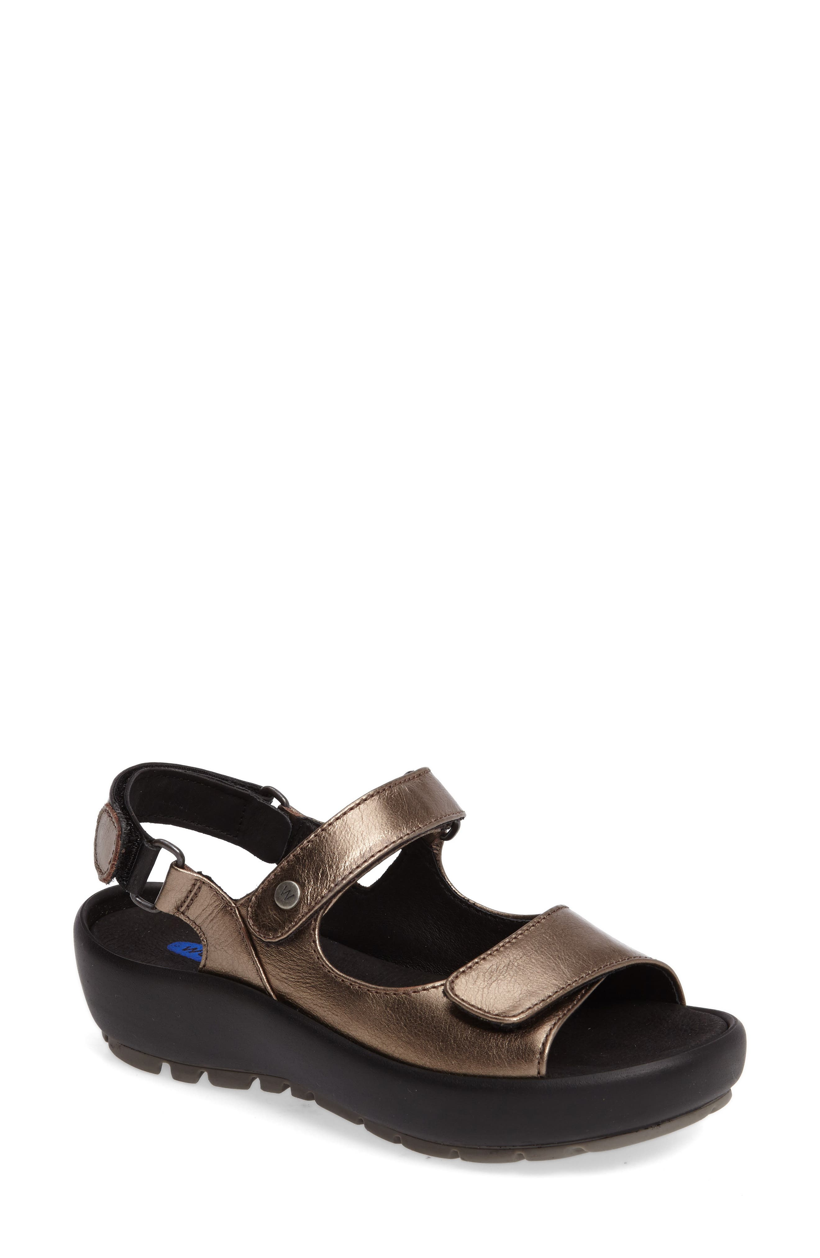 Rio Sandal,                             Main thumbnail 1, color,                             Bronze Metallic Leather