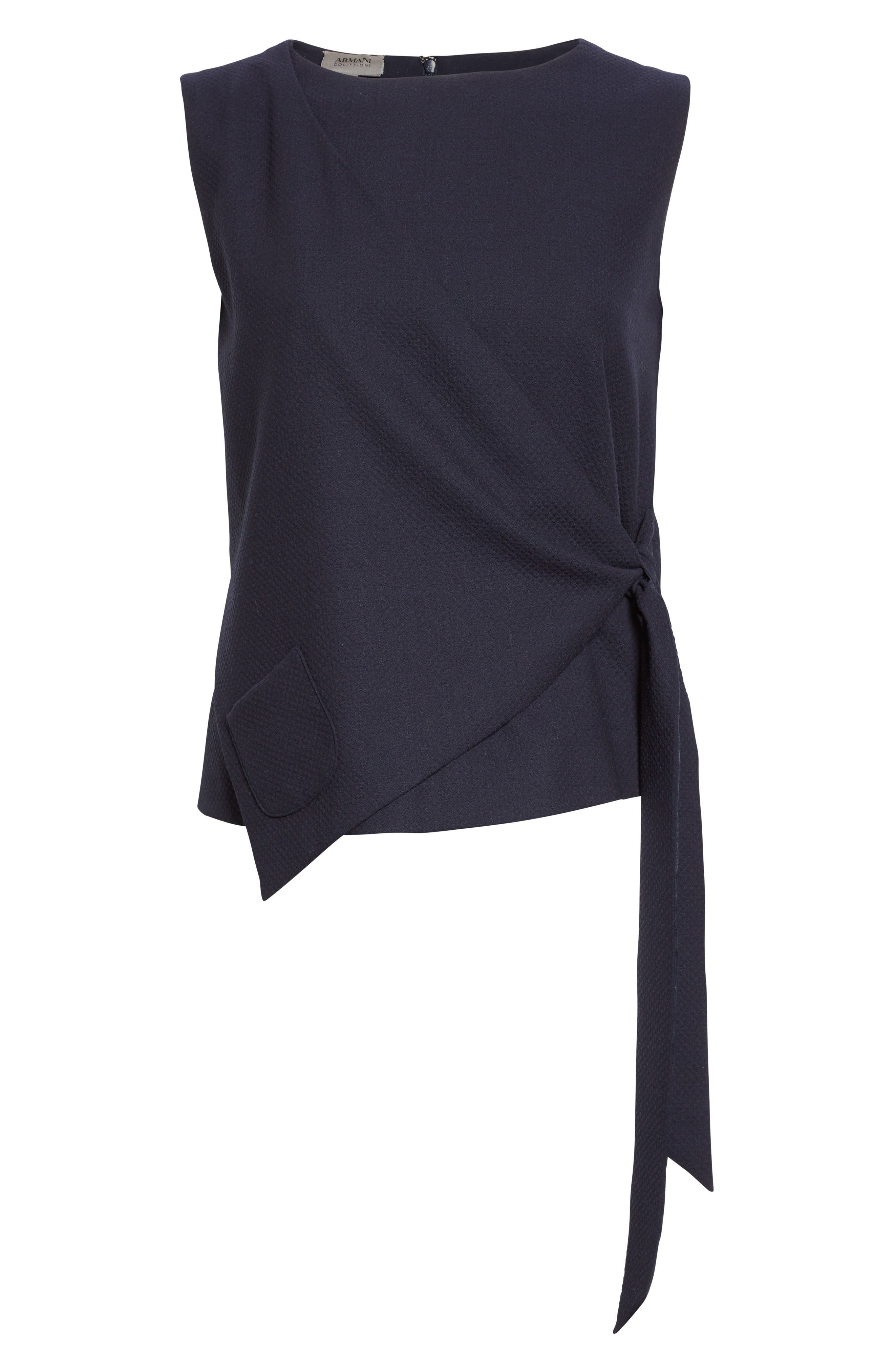 Side Tie Gilet,                             Alternate thumbnail 4, color,                             Midnight