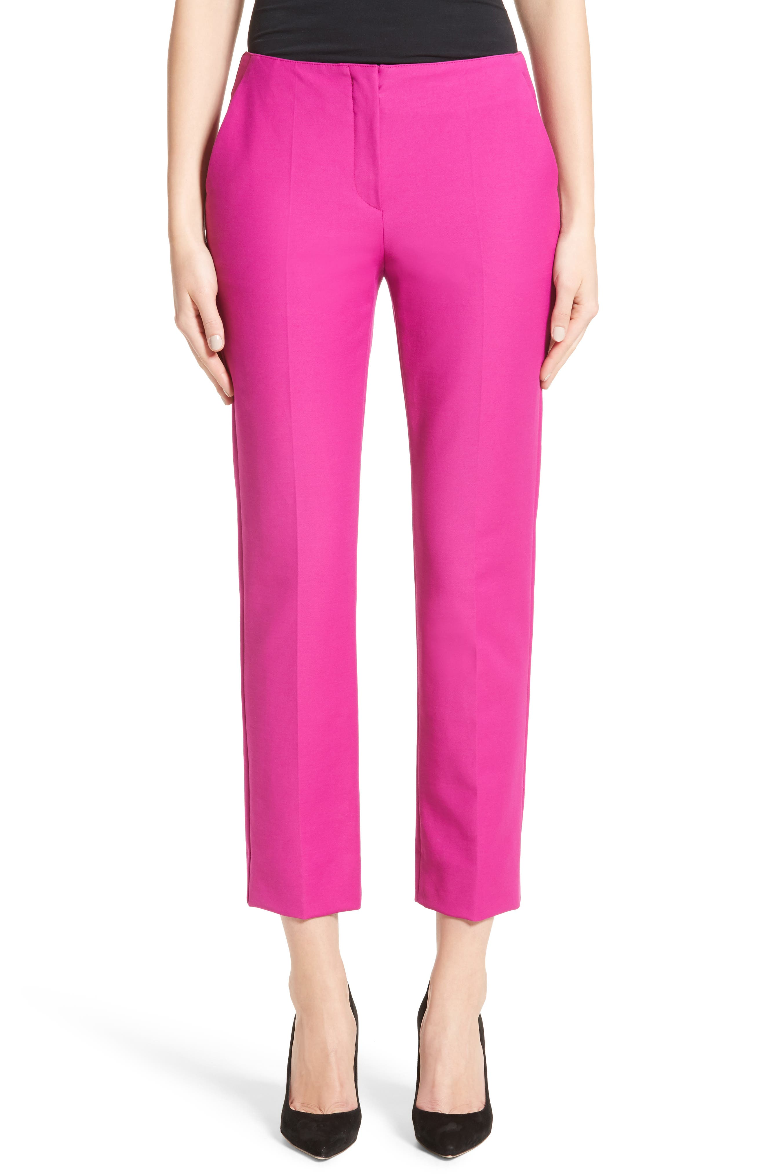 Tech Cotton Blend Slim Pants,                         Main,                         color, Orchid