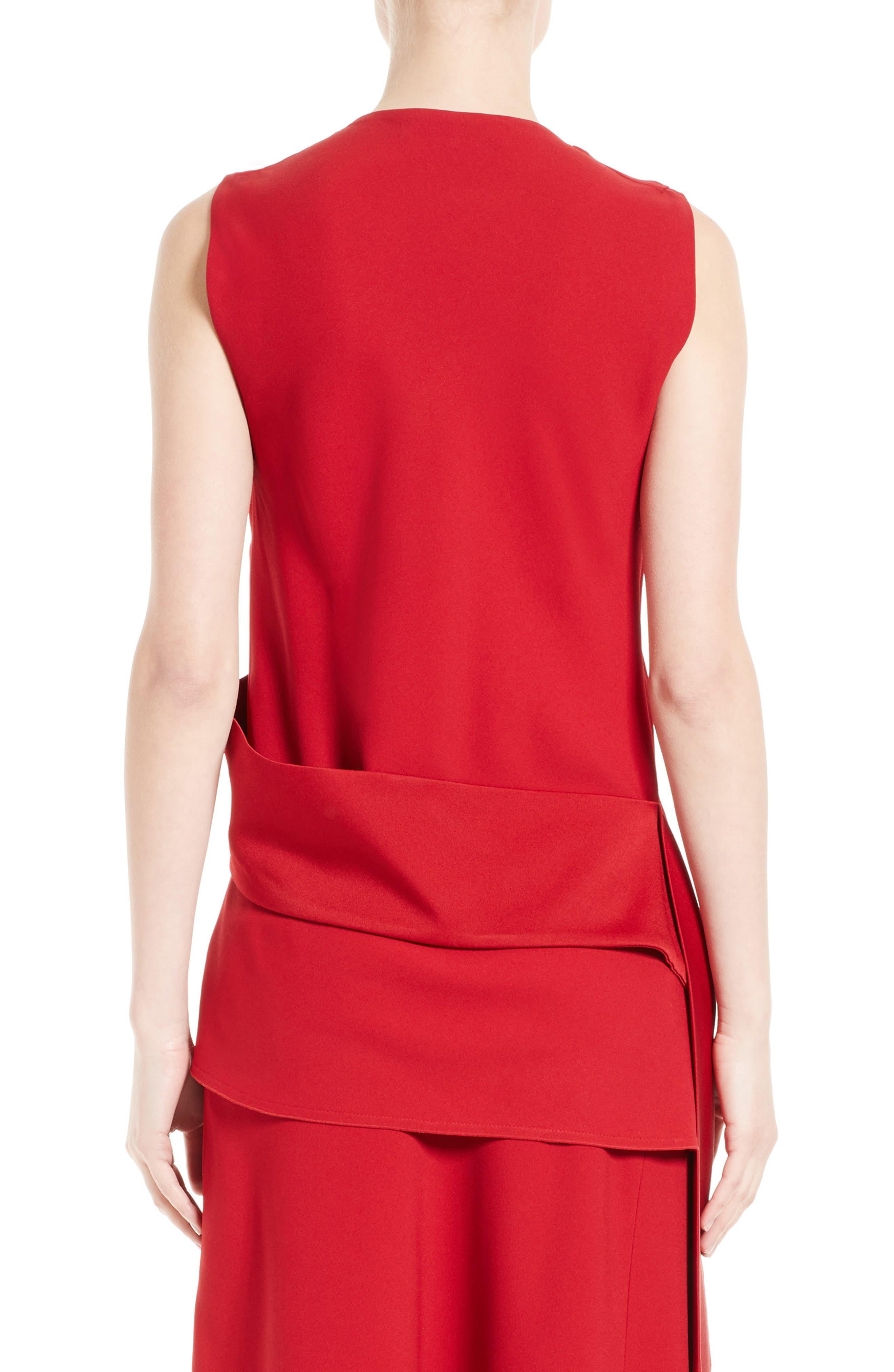 Alternate Image 2  - Victoria Beckham Satin Crepe Drape Top