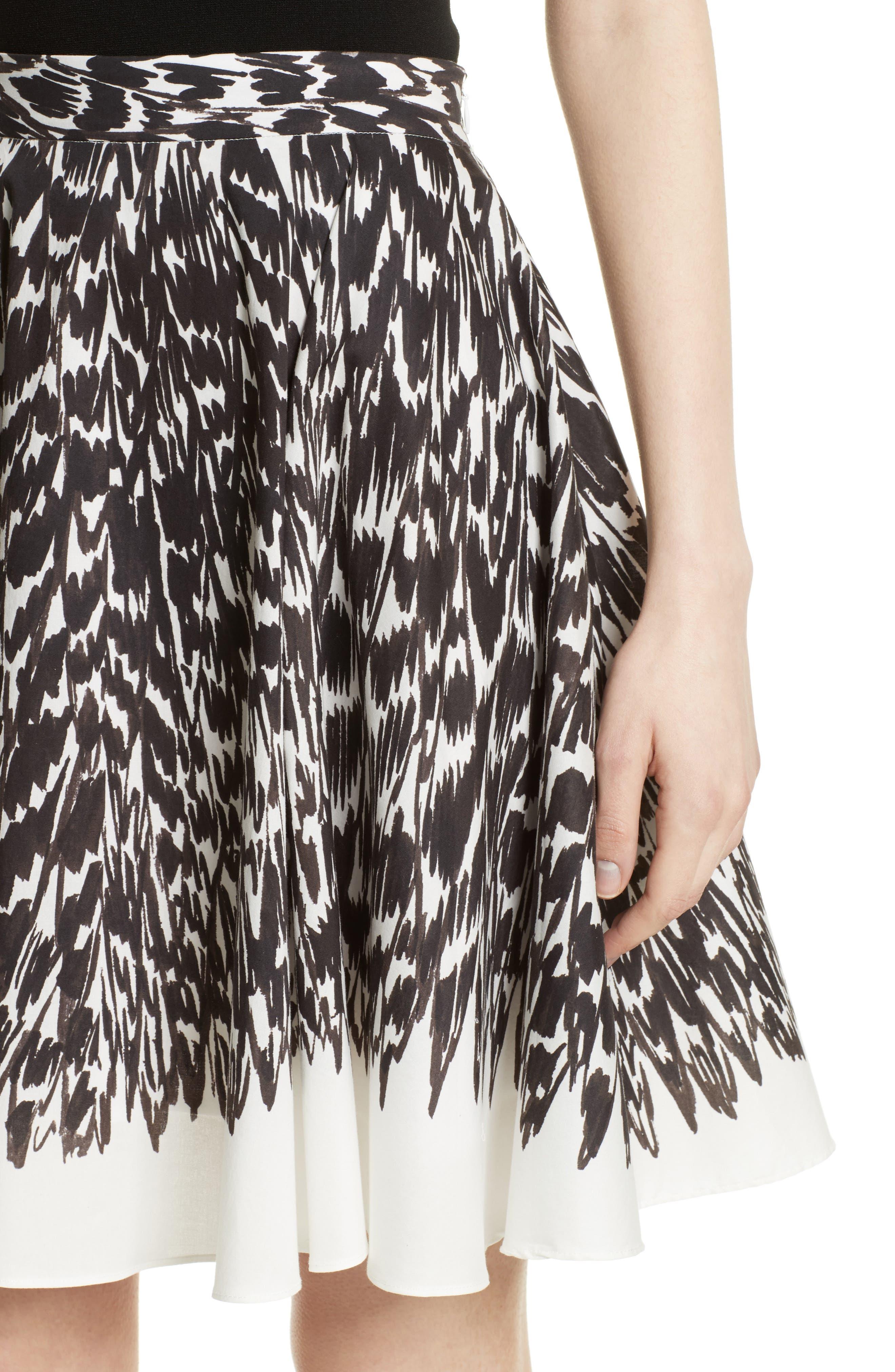Circle Skirt,                             Alternate thumbnail 5, color,                             Black