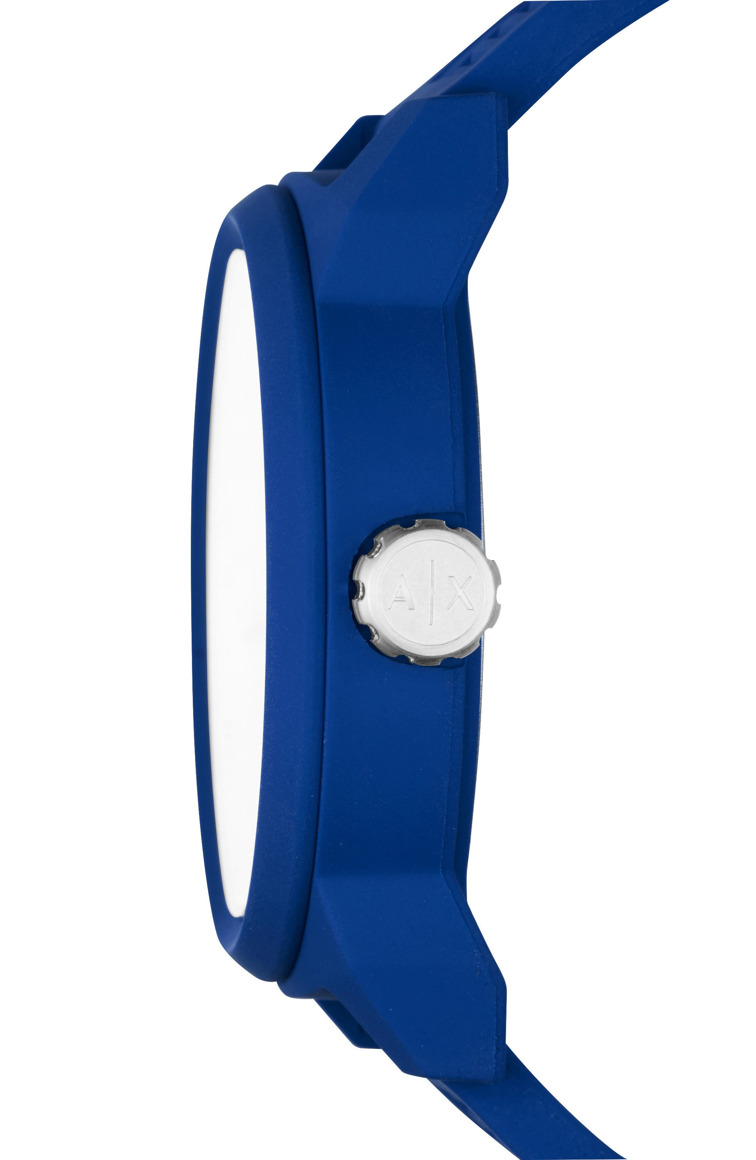 ATLC Logo Silicone Strap Watch, 46mm,                             Alternate thumbnail 2, color,                             Blue/ Blue