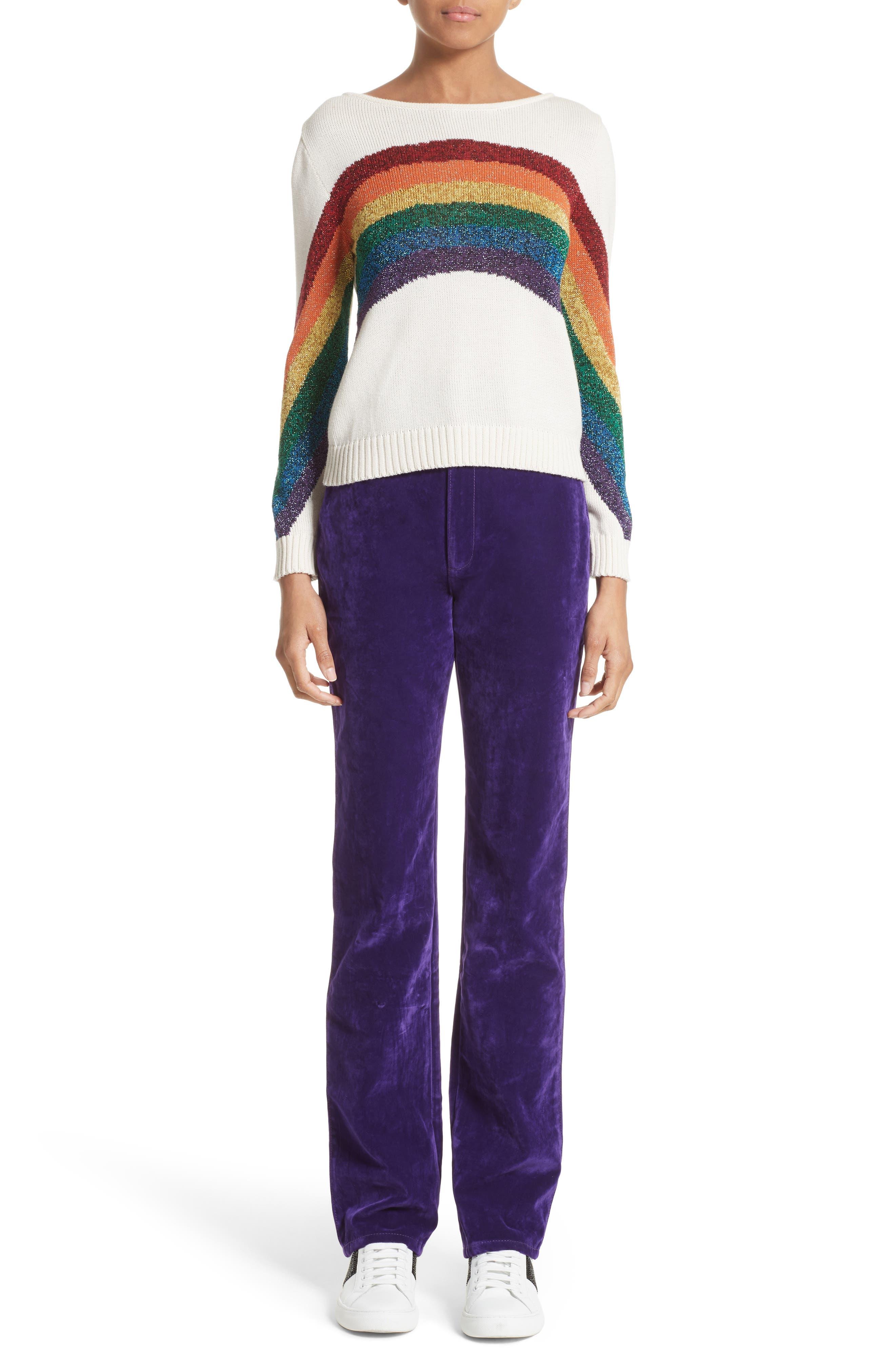 Alternate Image 7  - MARC JACOBS Rainbow Cotton Blend Sweater