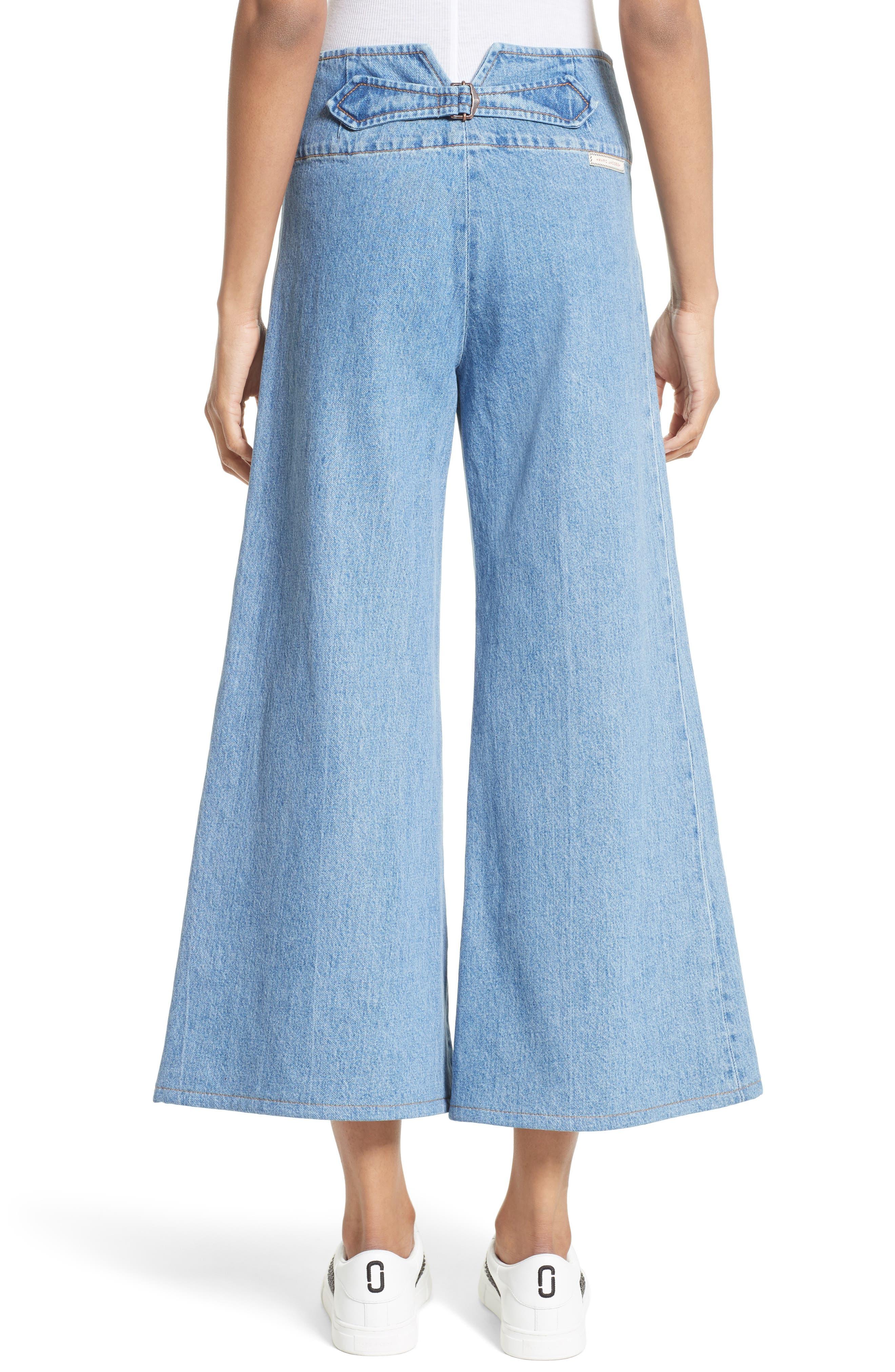 High Waist Crop Flare Jeans,                             Alternate thumbnail 2, color,                             Retro Indigo