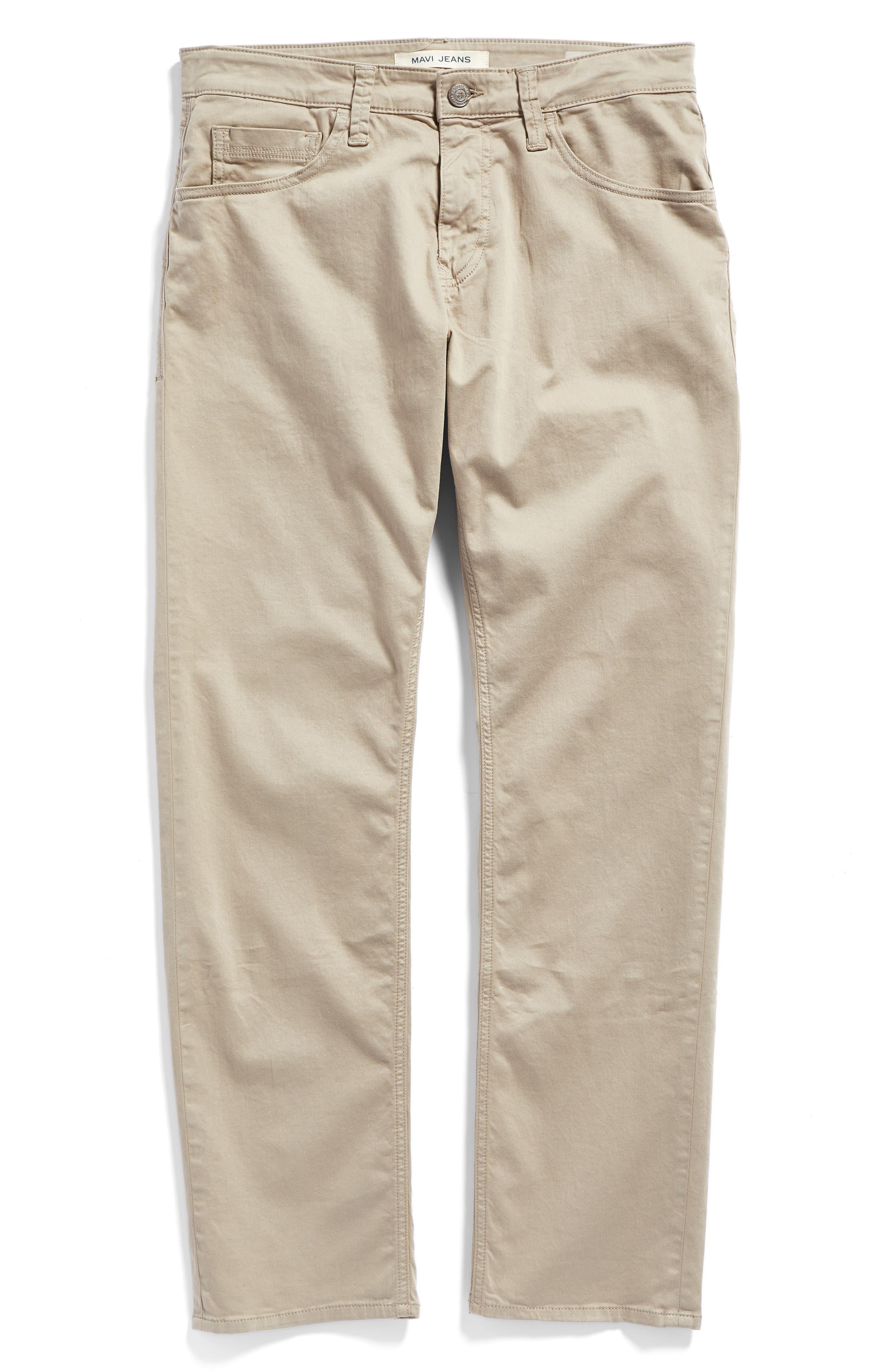 Zach Straight Leg Twill Pants,                             Alternate thumbnail 6, color,                             Beige Twill