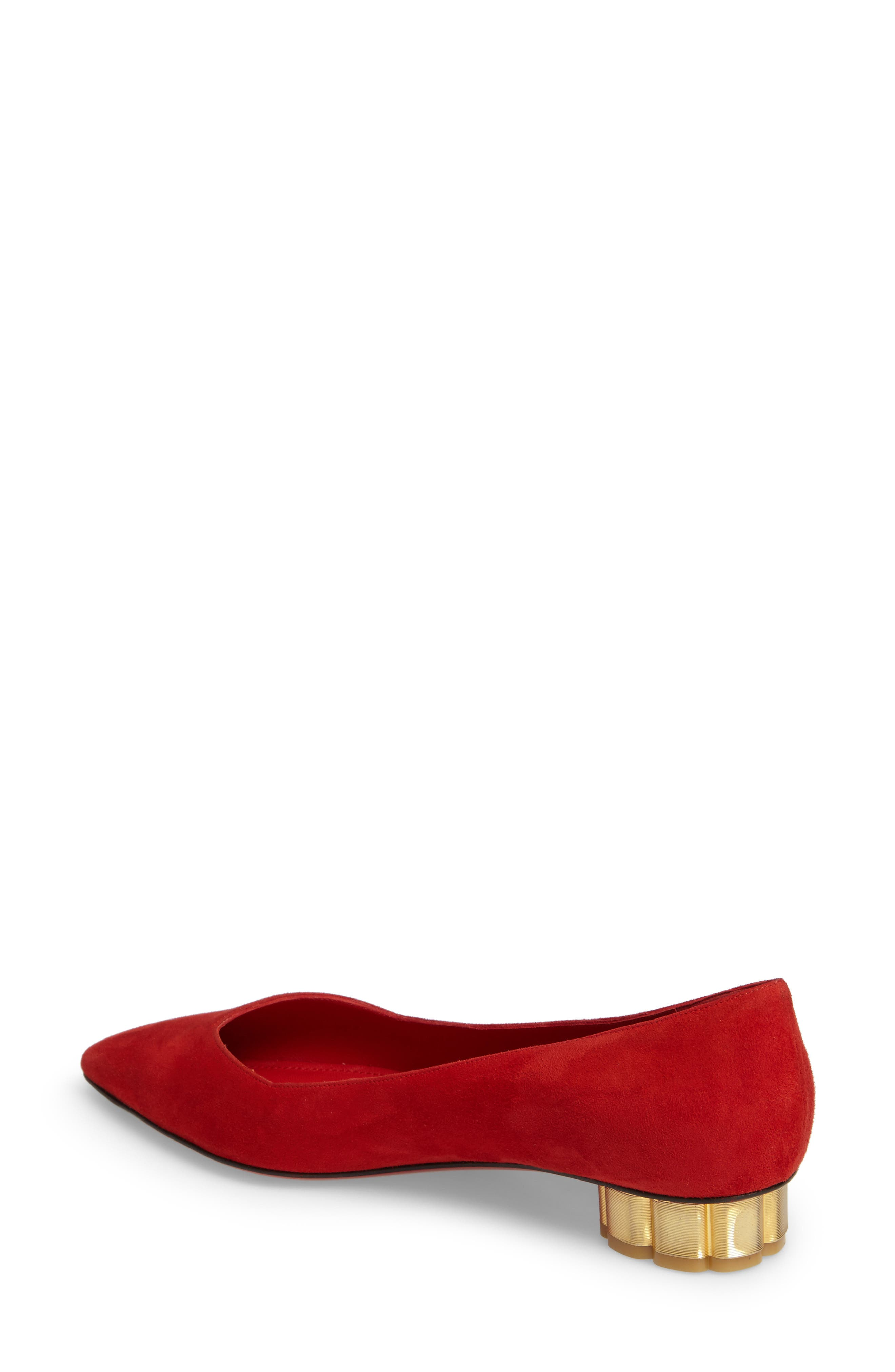 Alternate Image 2  - Salvatore Ferragamo Flower Heel Pump (Women)