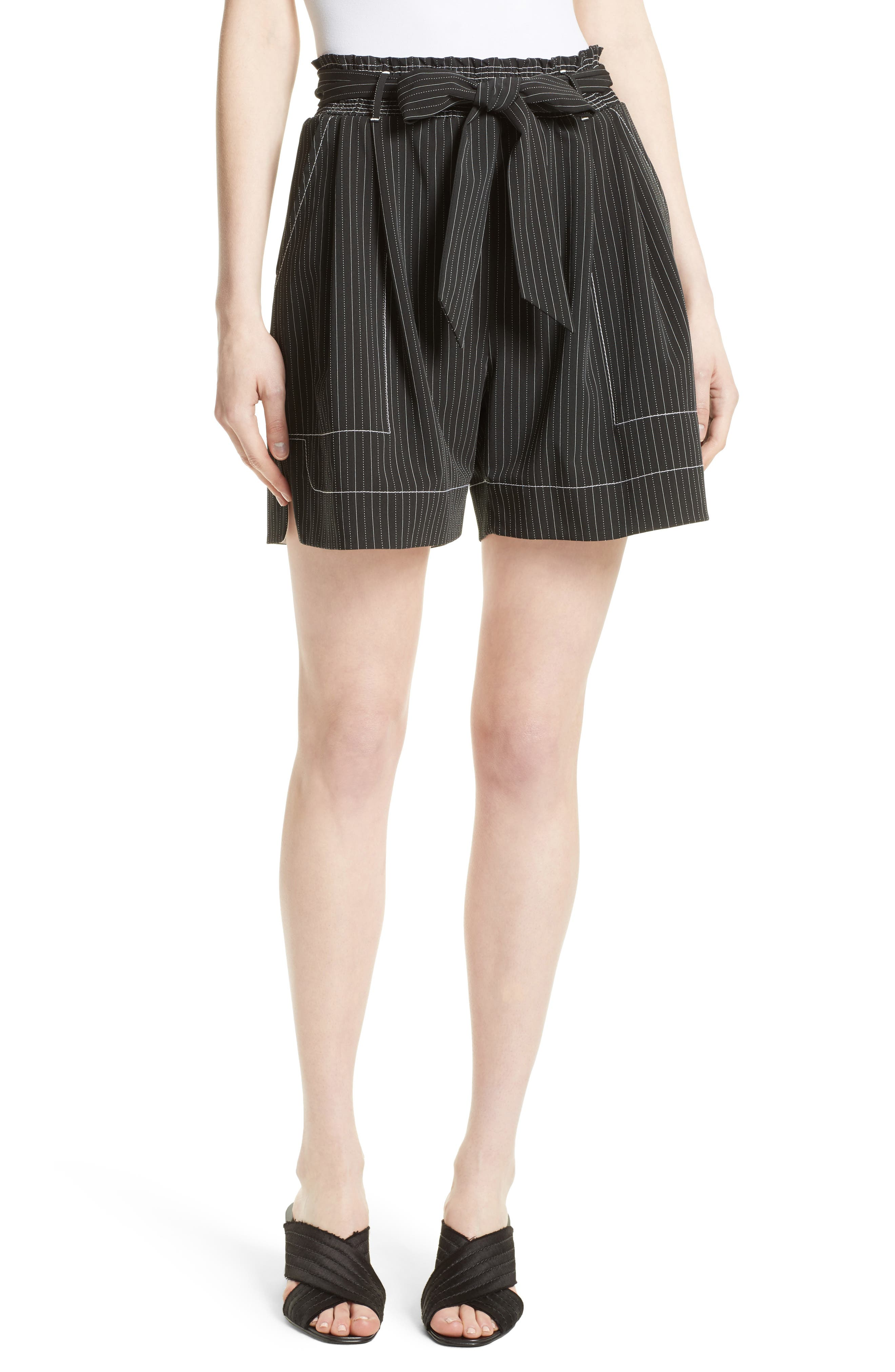 Tracy Reese Stripe Soft Shorts