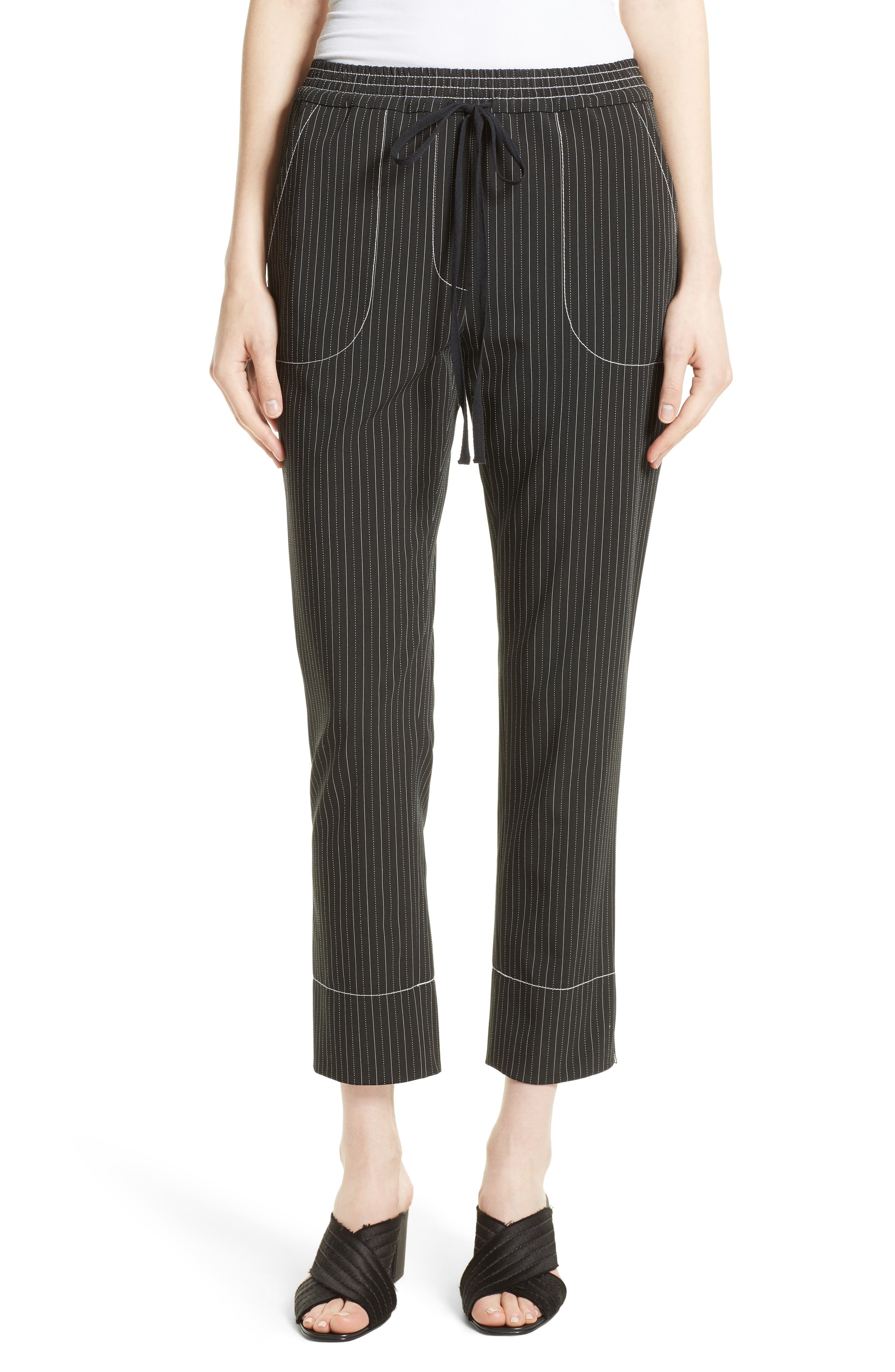 TRACY REESE Stripe Pull-On Pants