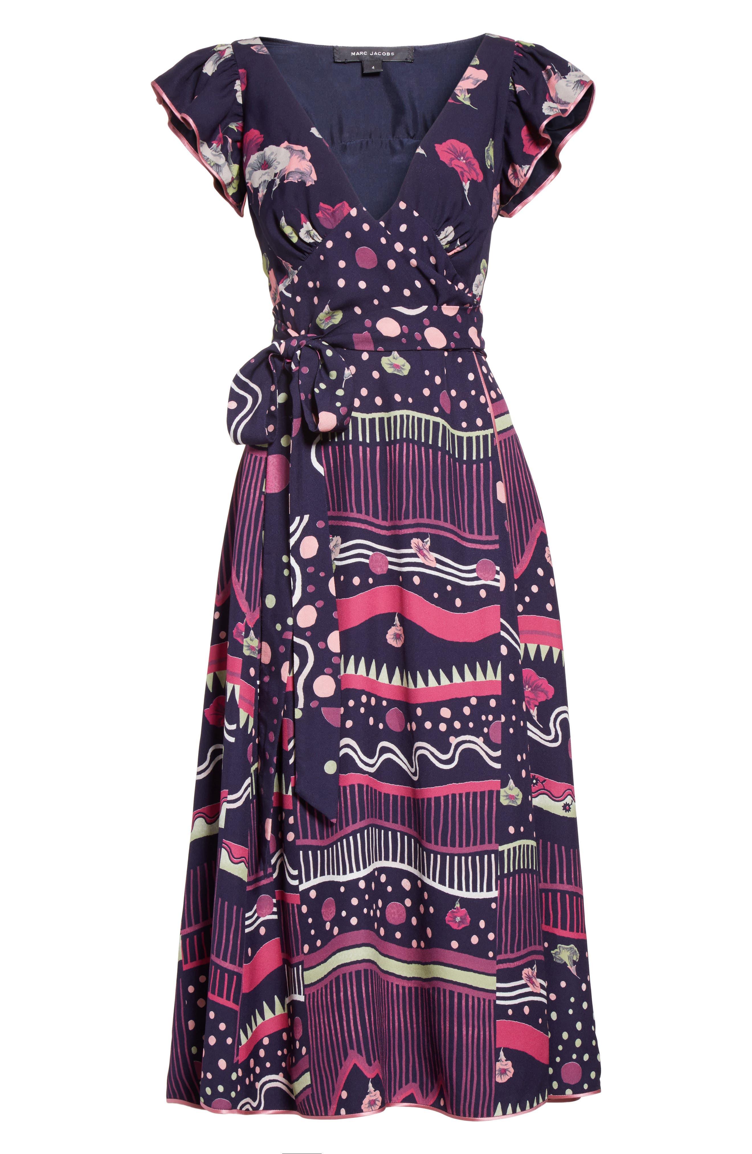 Alternate Image 4  - MARC JACOBS Glories Crepe Back Satin Midi Wrap Dress
