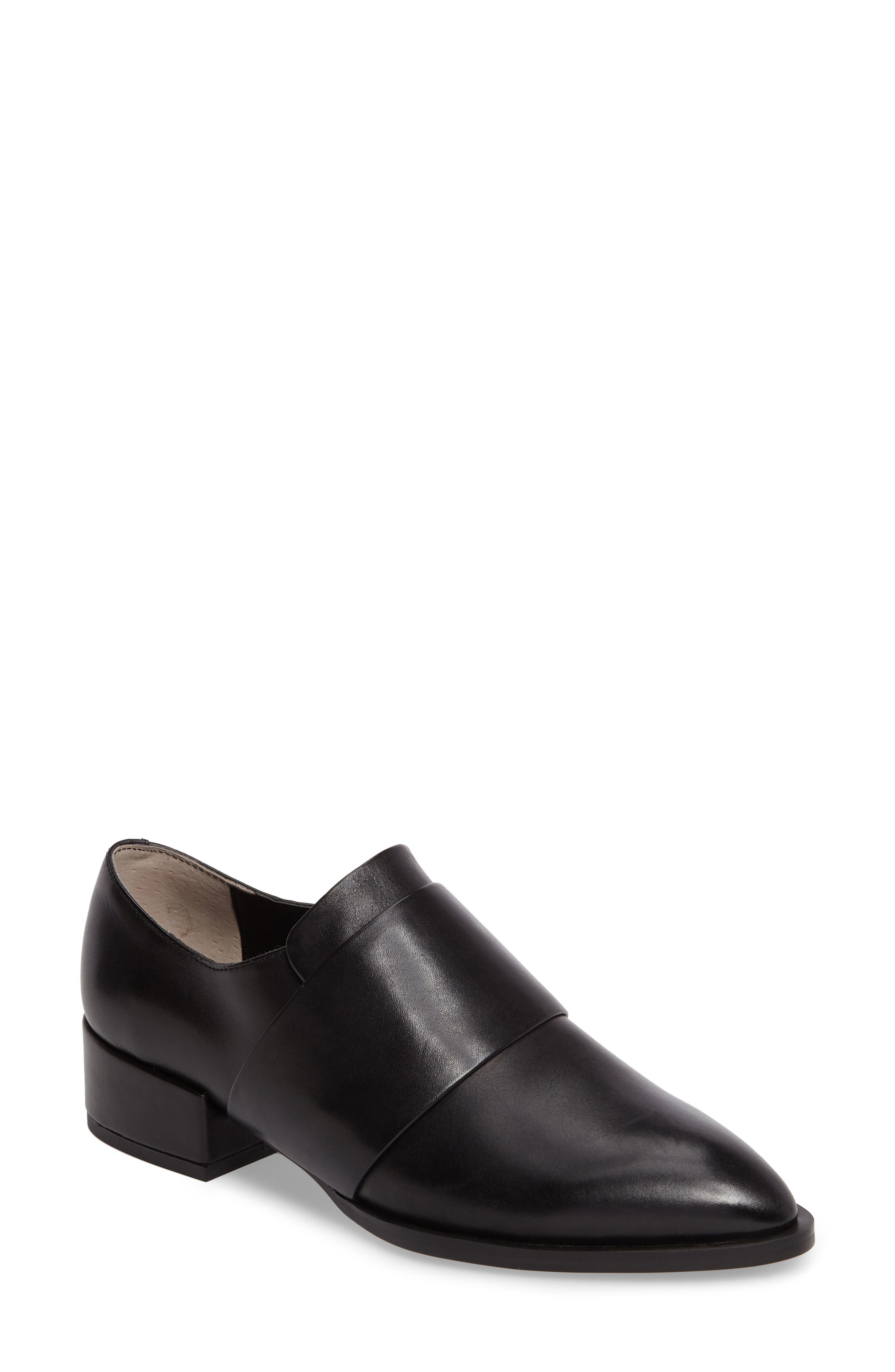 Dilla Loafer,                             Main thumbnail 1, color,                             Black Calais Leather
