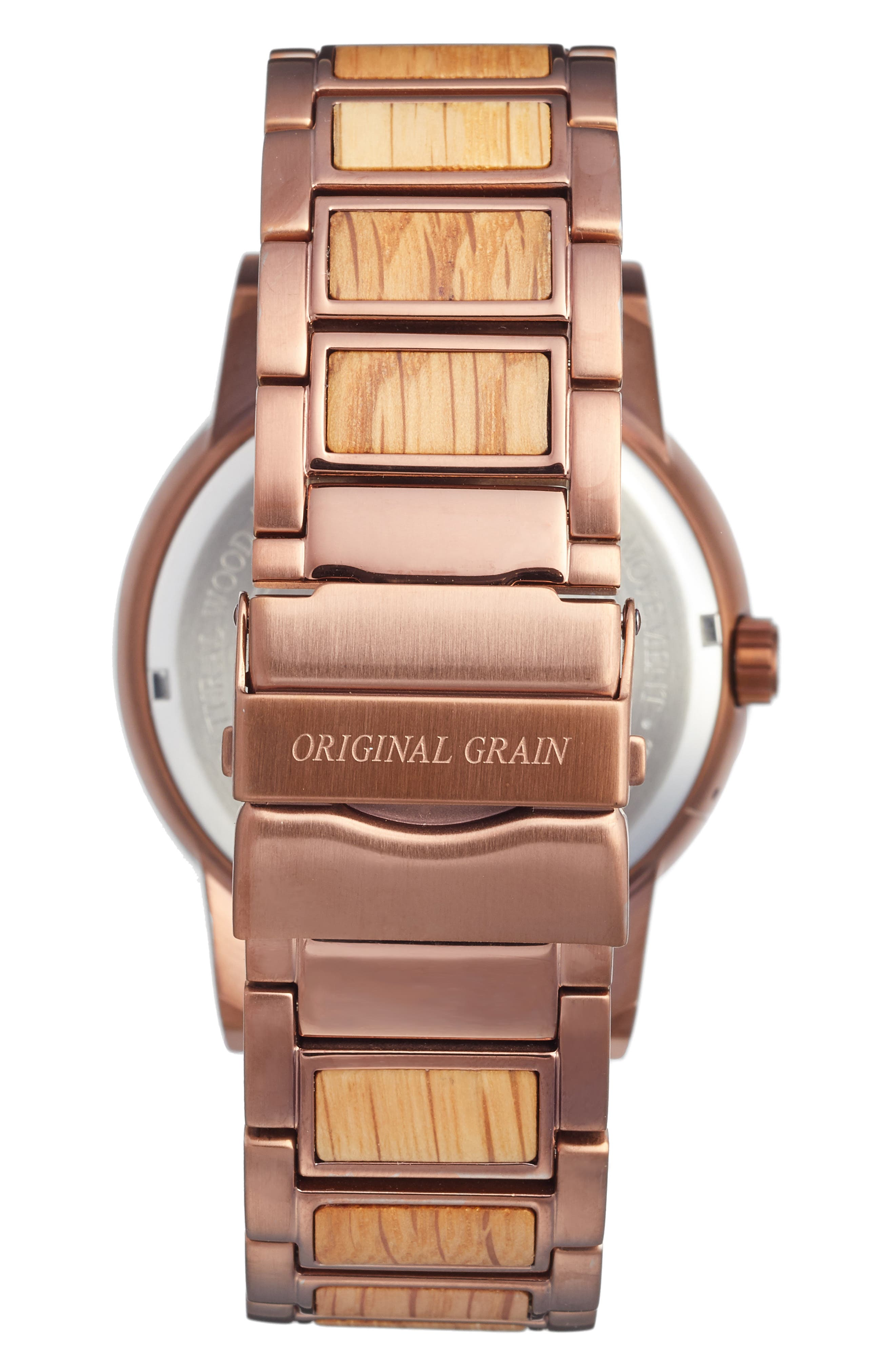 The Barrel Bracelet Watch, 47mm,                             Alternate thumbnail 2, color,                             Whiskey Oak/ Espresso Steel