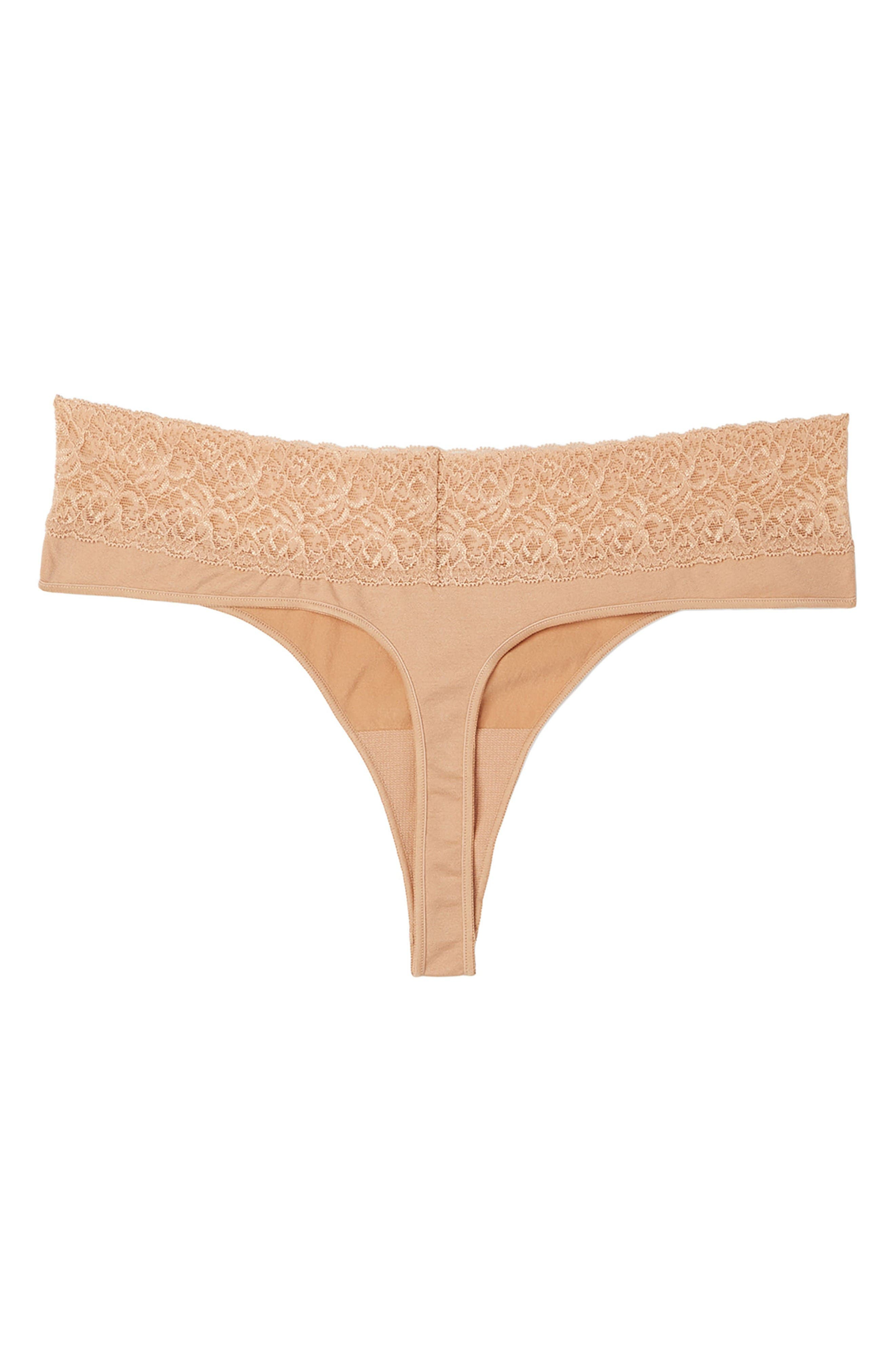 4-Pack Seamless Maternity/Postpartum Thong,                             Alternate thumbnail 2, color,                             Nude