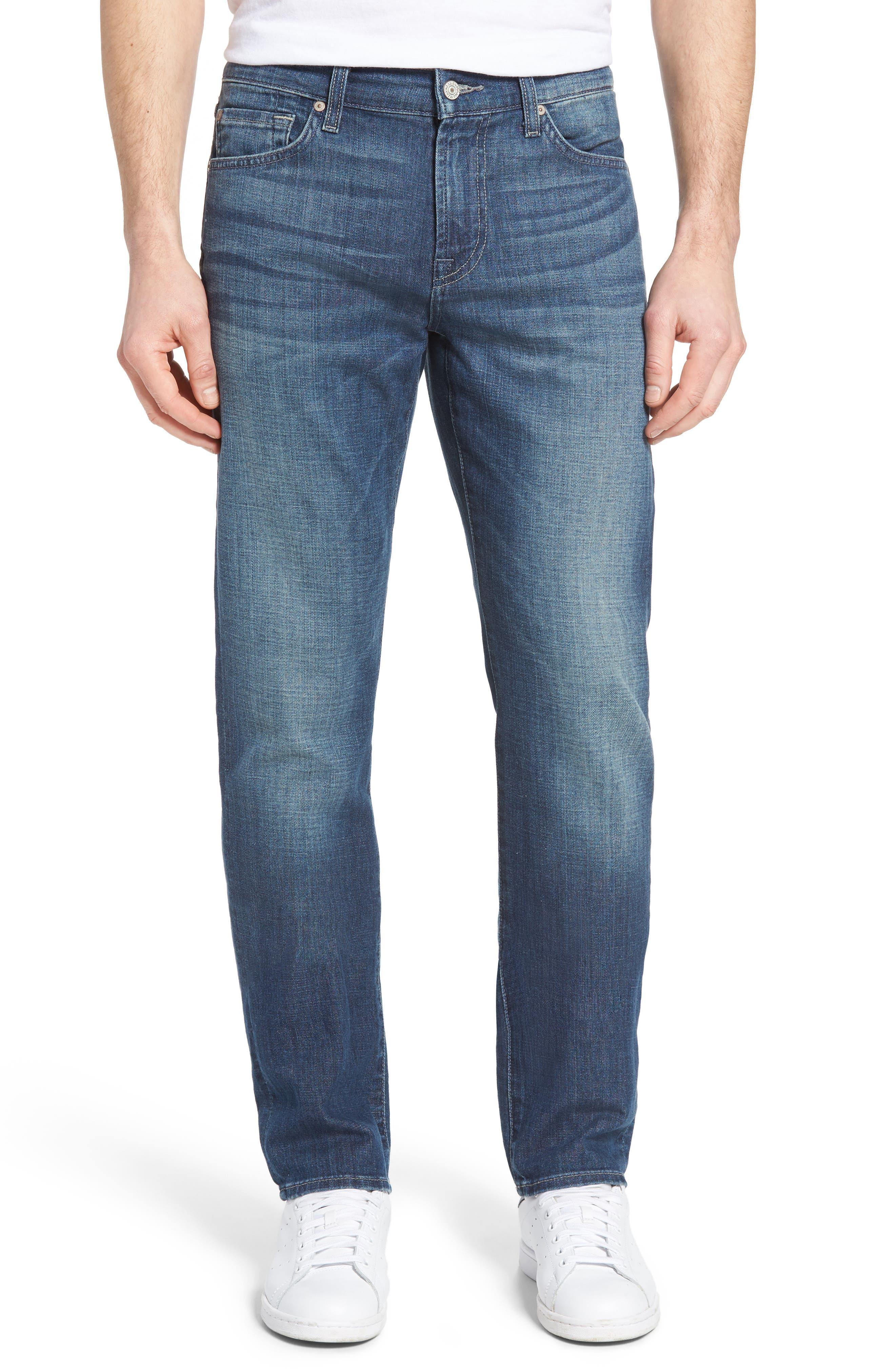 7 For All Mankind® Slimmy Slim Straight Leg Jeans (Saltwater)