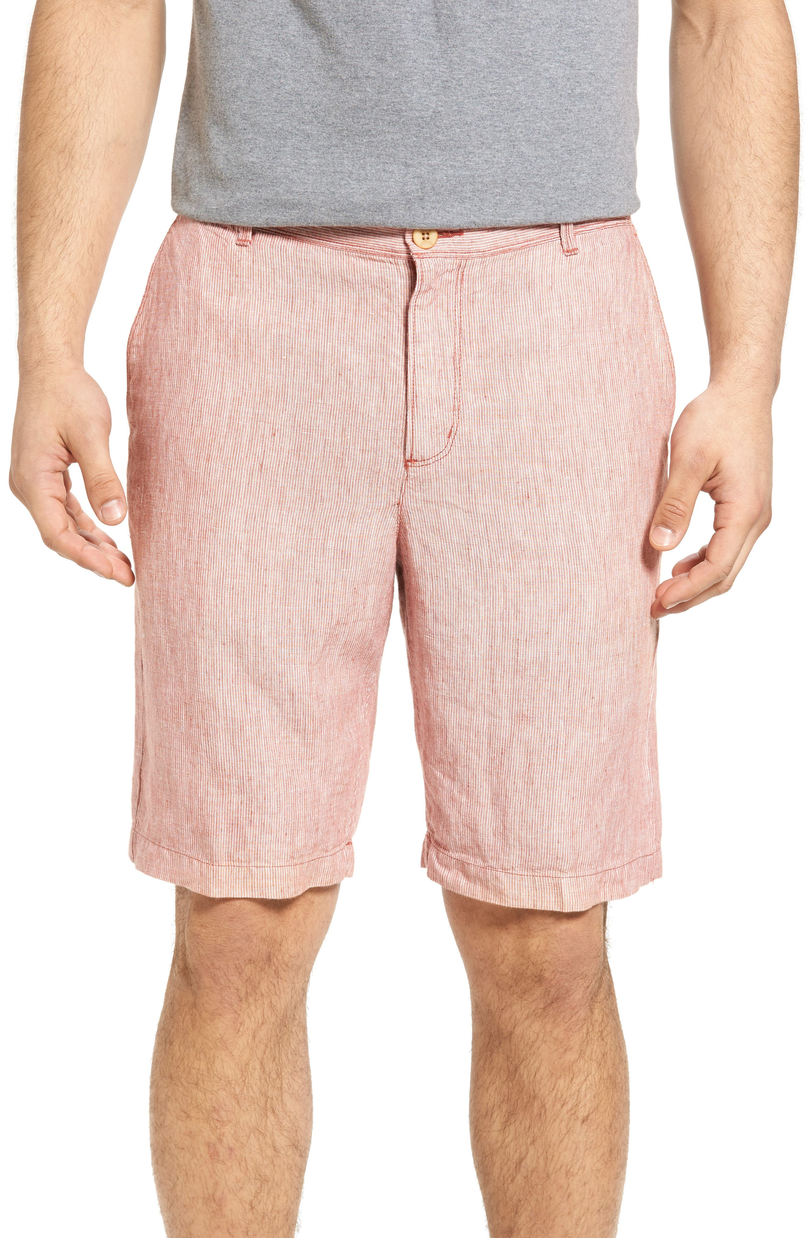 Tommy Bahama Shoreline Stripe Linen Shorts (Big)