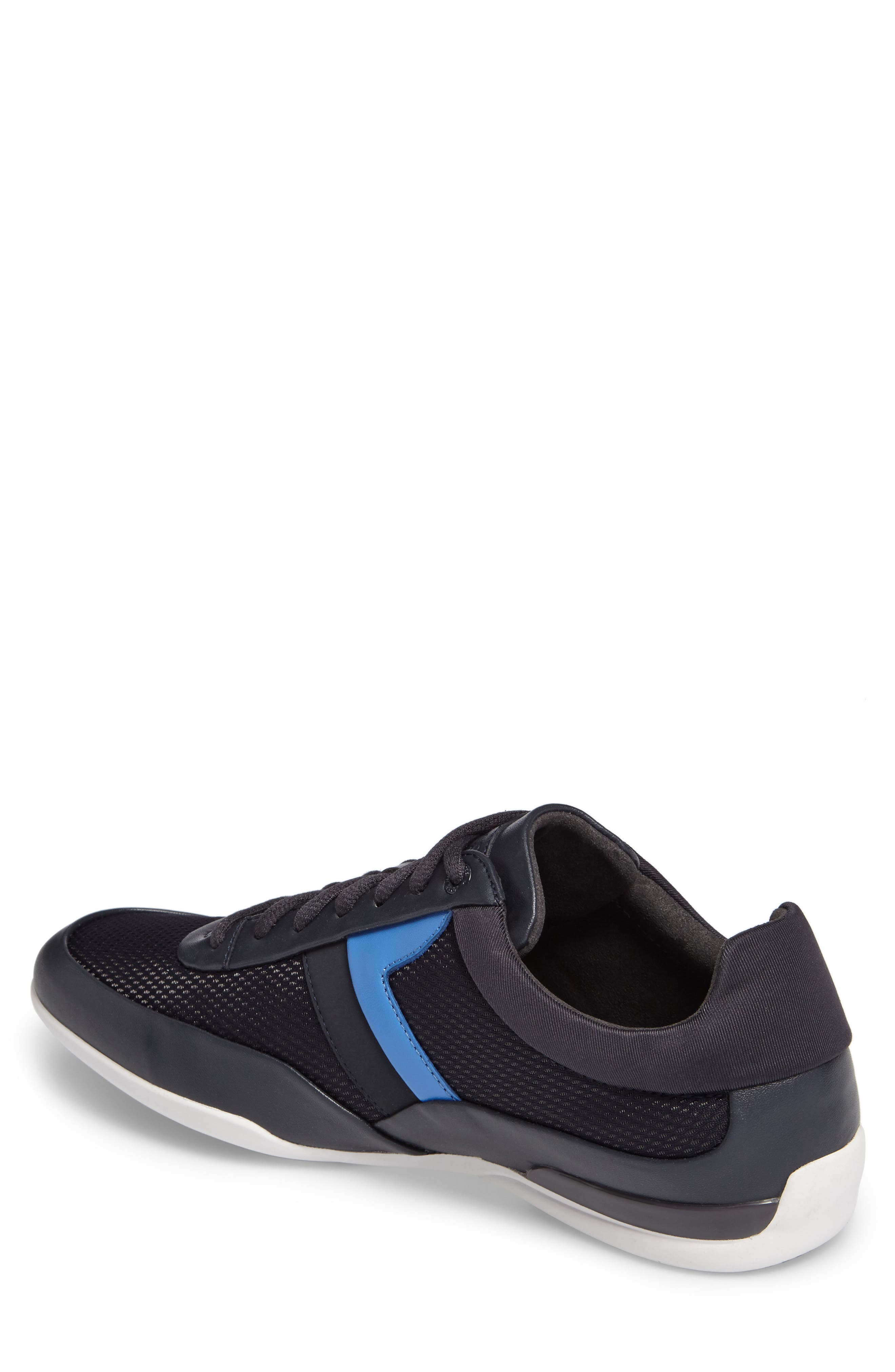 Green Space Mesh Sneaker,                             Alternate thumbnail 2, color,                             Dark Blue Leather