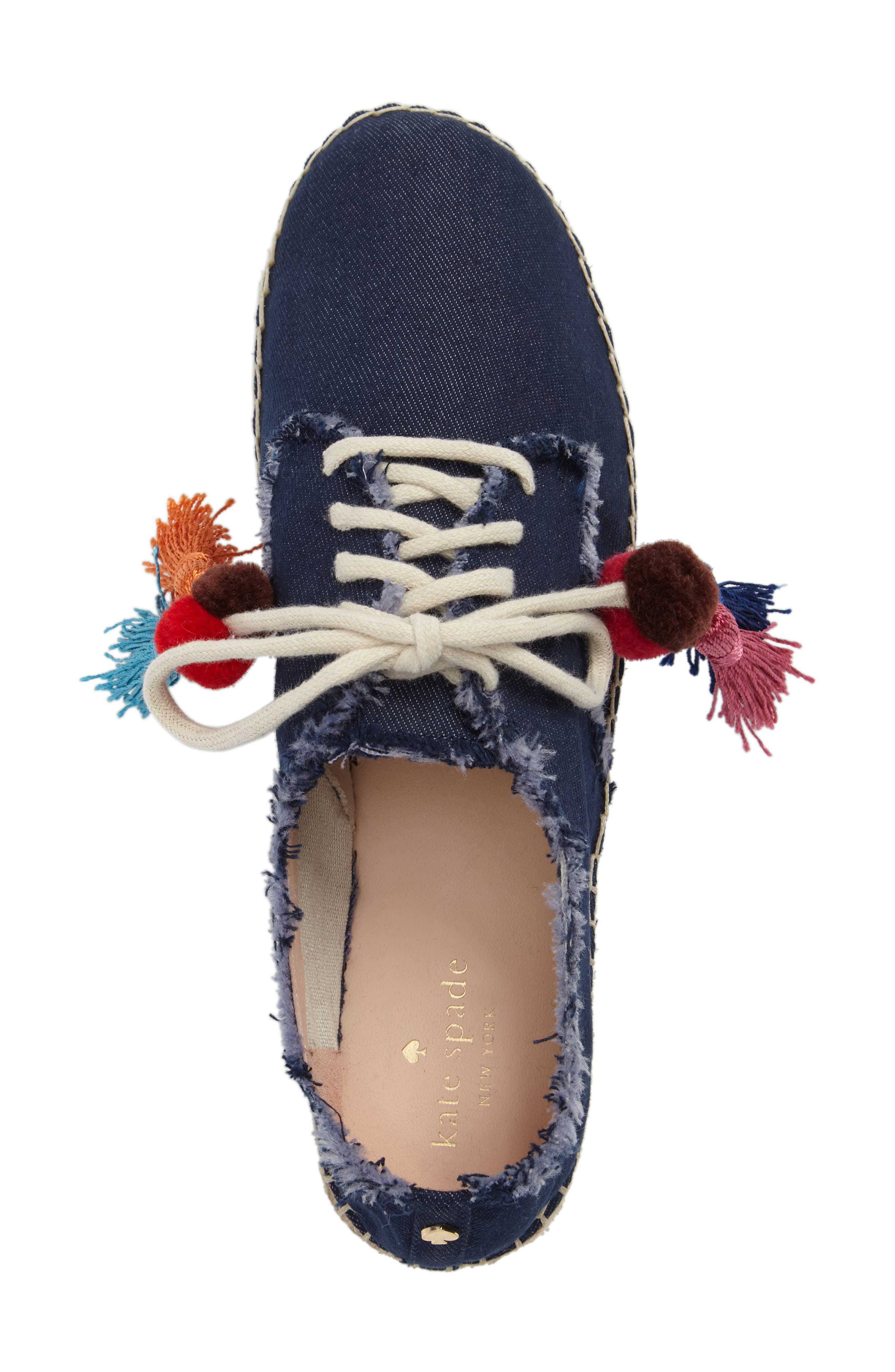 lane espadrille platform sneaker,                             Alternate thumbnail 5, color,                             Blue Jeans