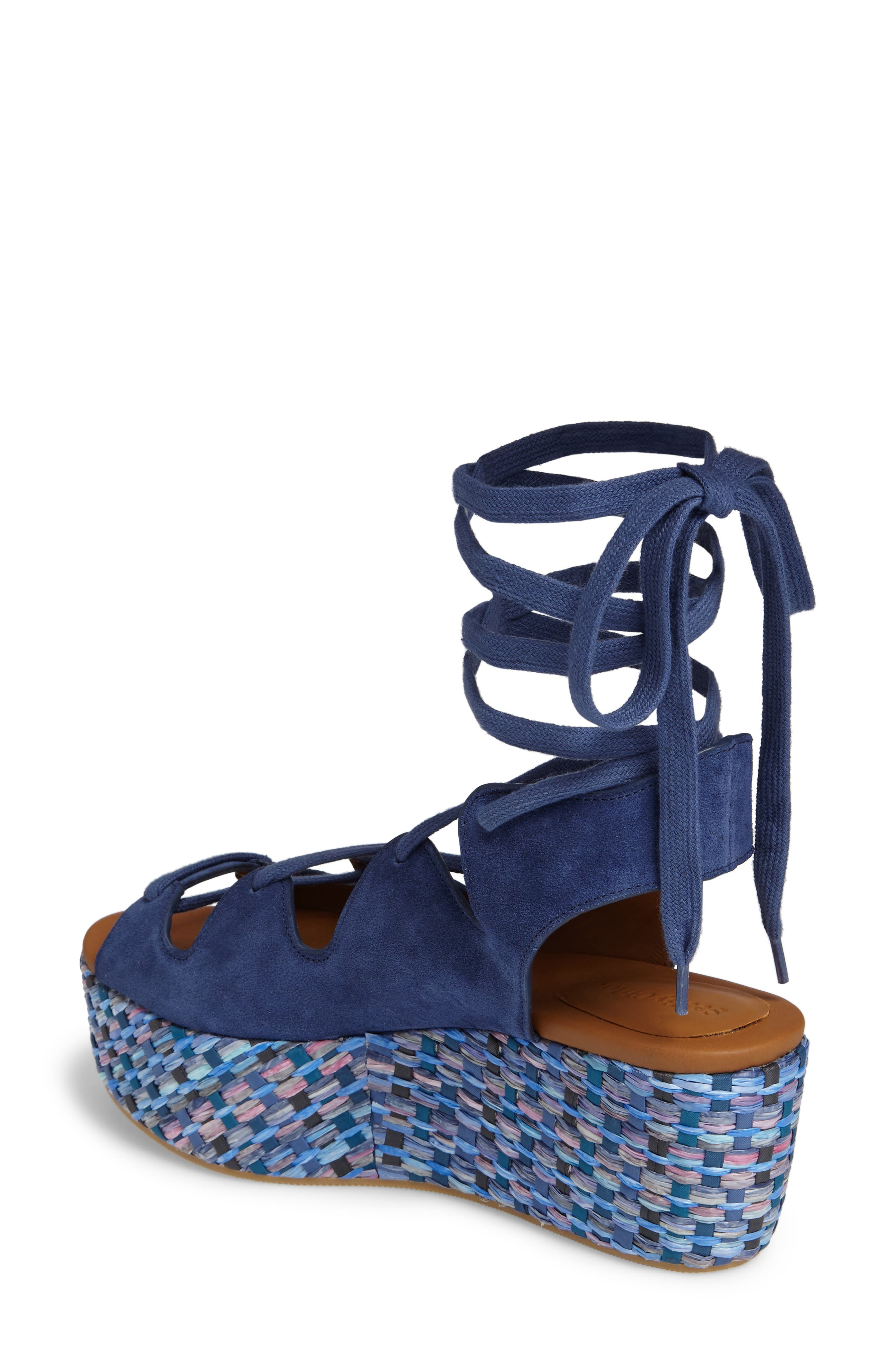 'Liana' Platform Wedge Sandal,                             Alternate thumbnail 2, color,                             Sugar
