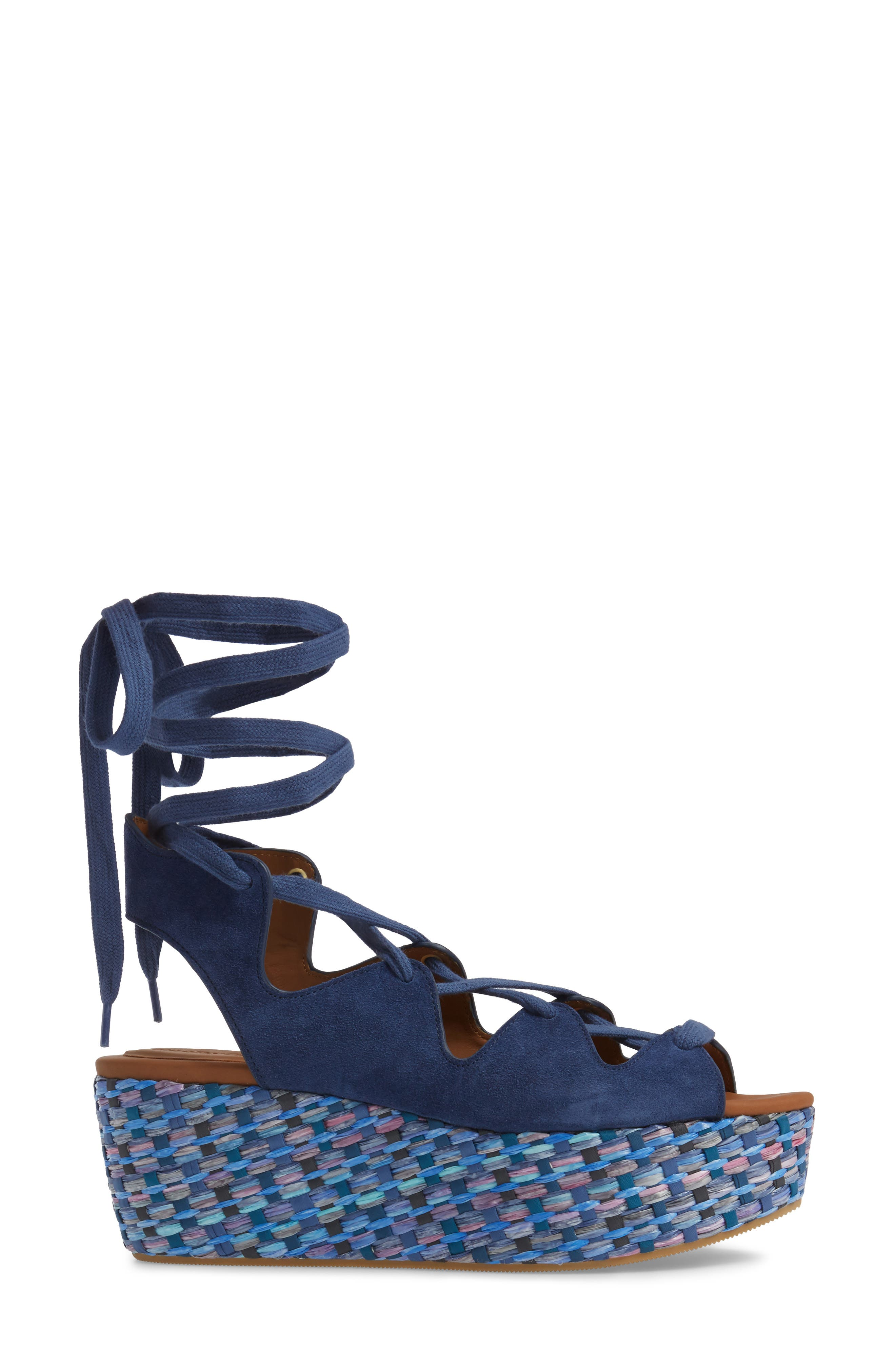 'Liana' Platform Wedge Sandal,                             Alternate thumbnail 3, color,                             Sugar
