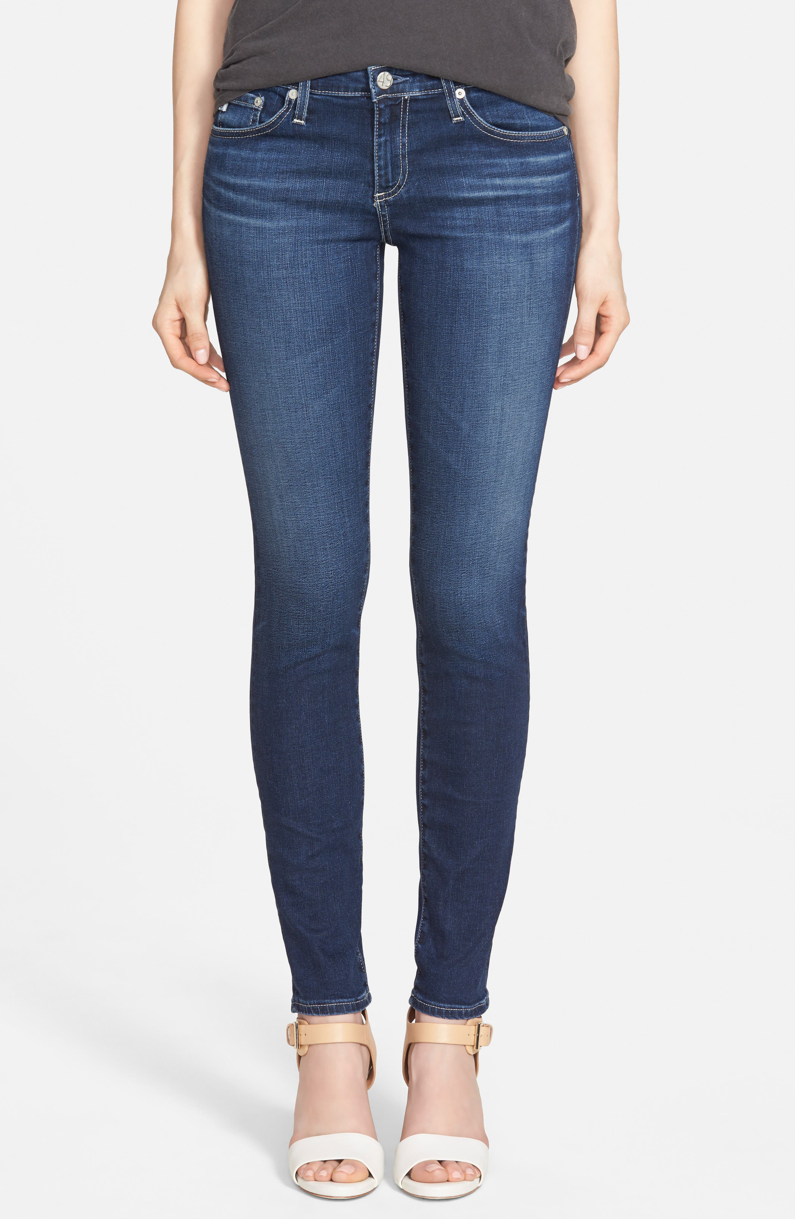 'The Stilt' Cigarette Leg Jeans,                             Main thumbnail 1, color,                             Eleven Year Journey