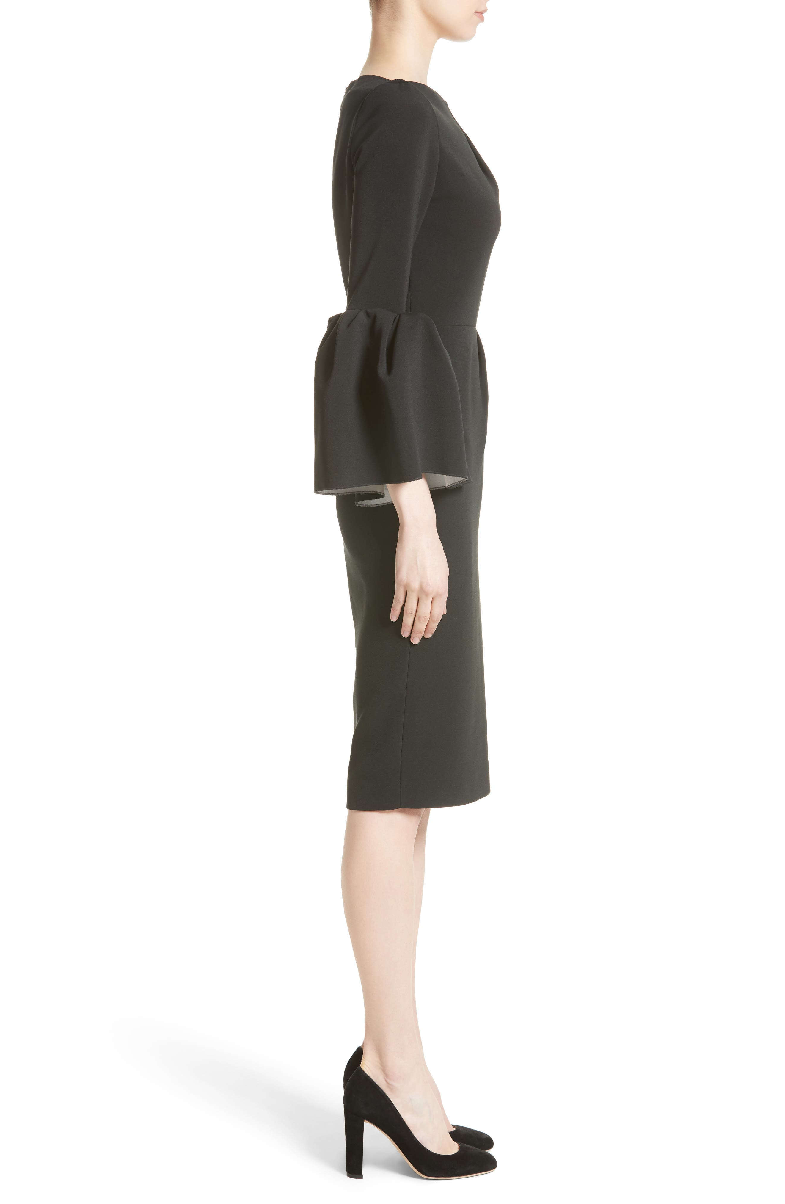 Margot Dress,                             Alternate thumbnail 6, color,                             Black/Ivory