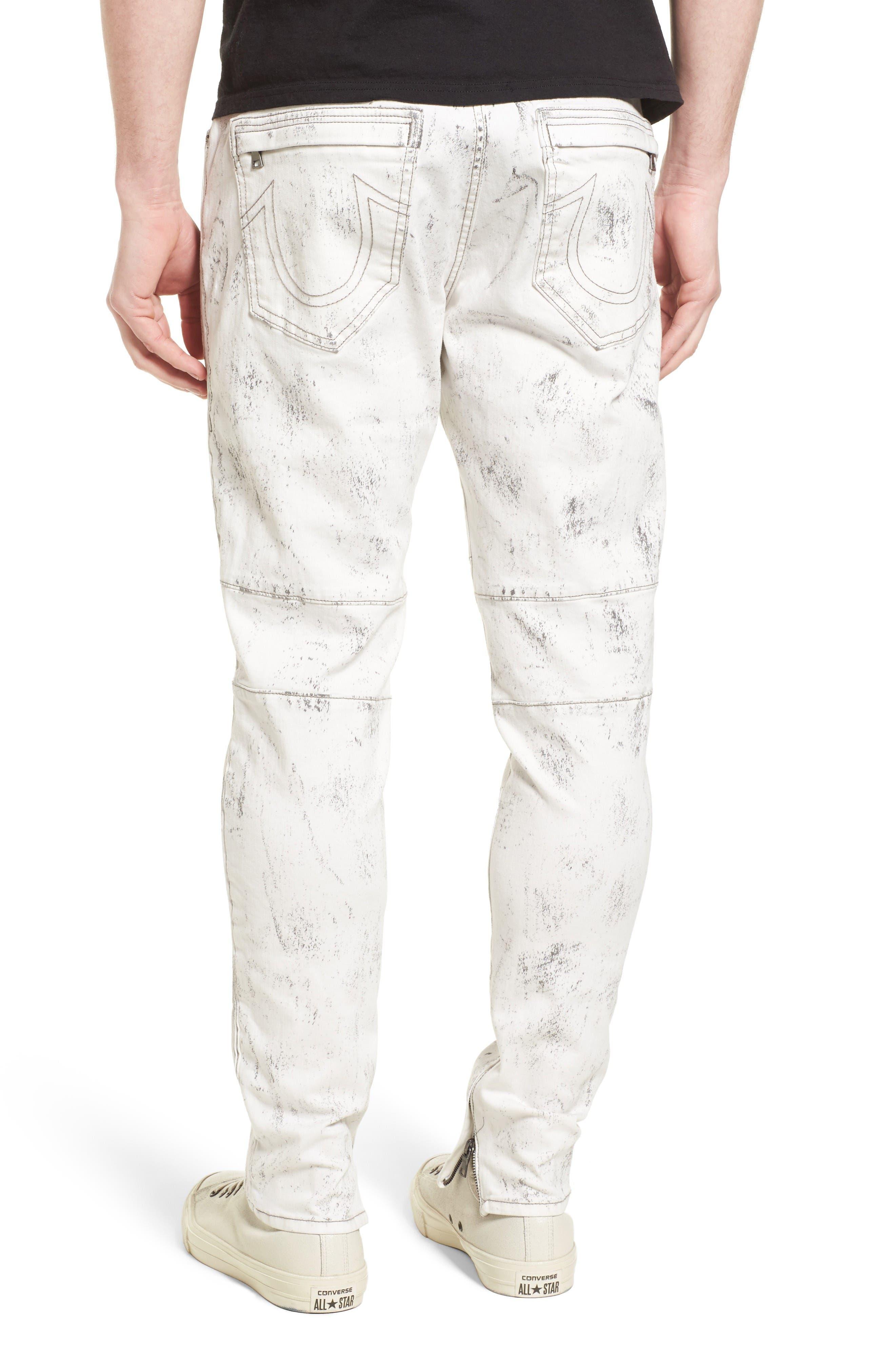Alternate Image 2  - True Religion Racer Skinny Fit Jeans (Black Sand)