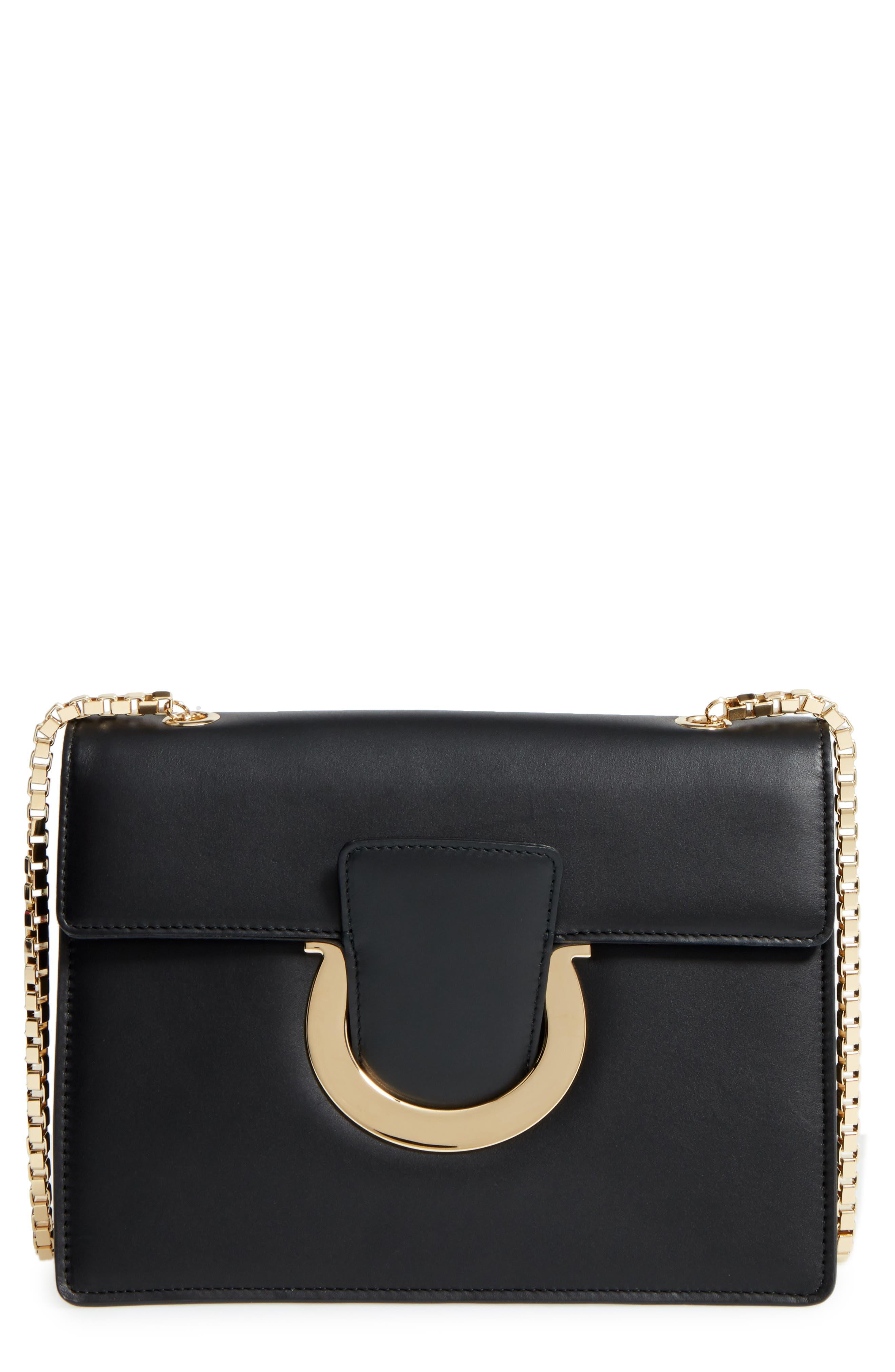 Salvatore Ferragamo Large Thalia Leather Shoulder Bag