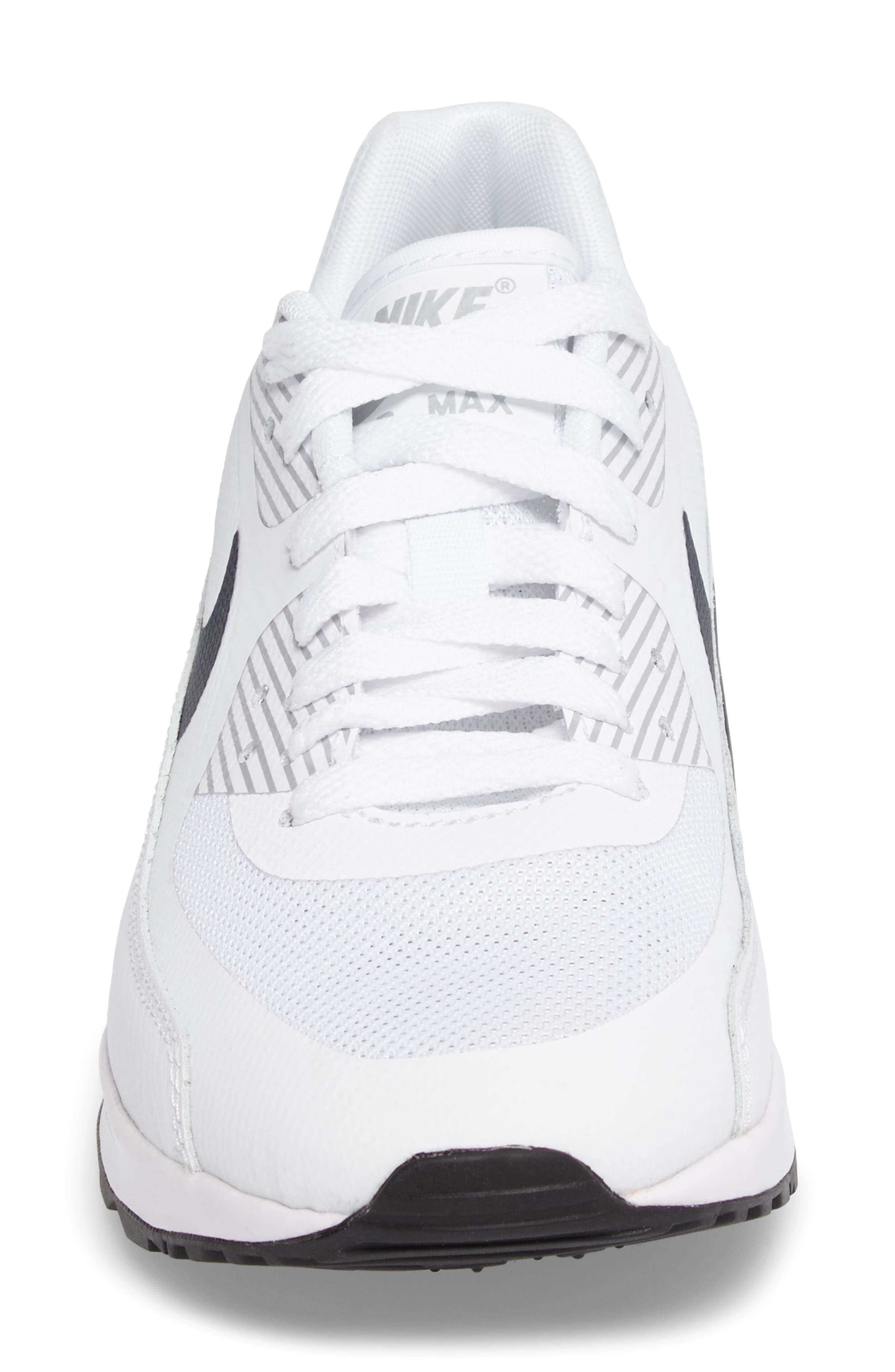 Air Max 90 Ultra 2.0 Sneaker,                             Alternate thumbnail 3, color,                             White/ Navy/ Wolf Grey/ Black