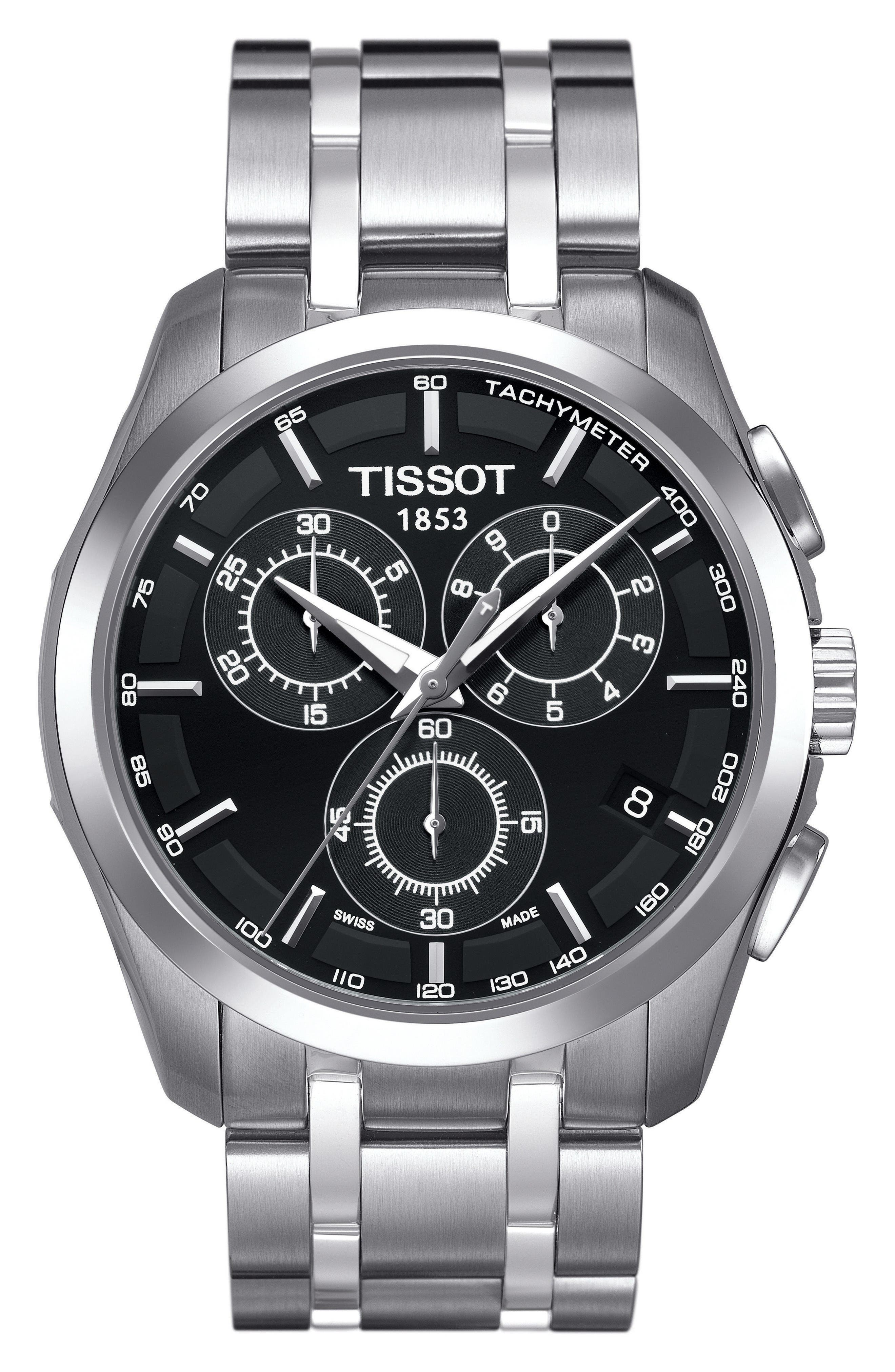 Couturier Chronograph Bracelet Watch, 41mm,                         Main,                         color, Silver/ Black/ Silver